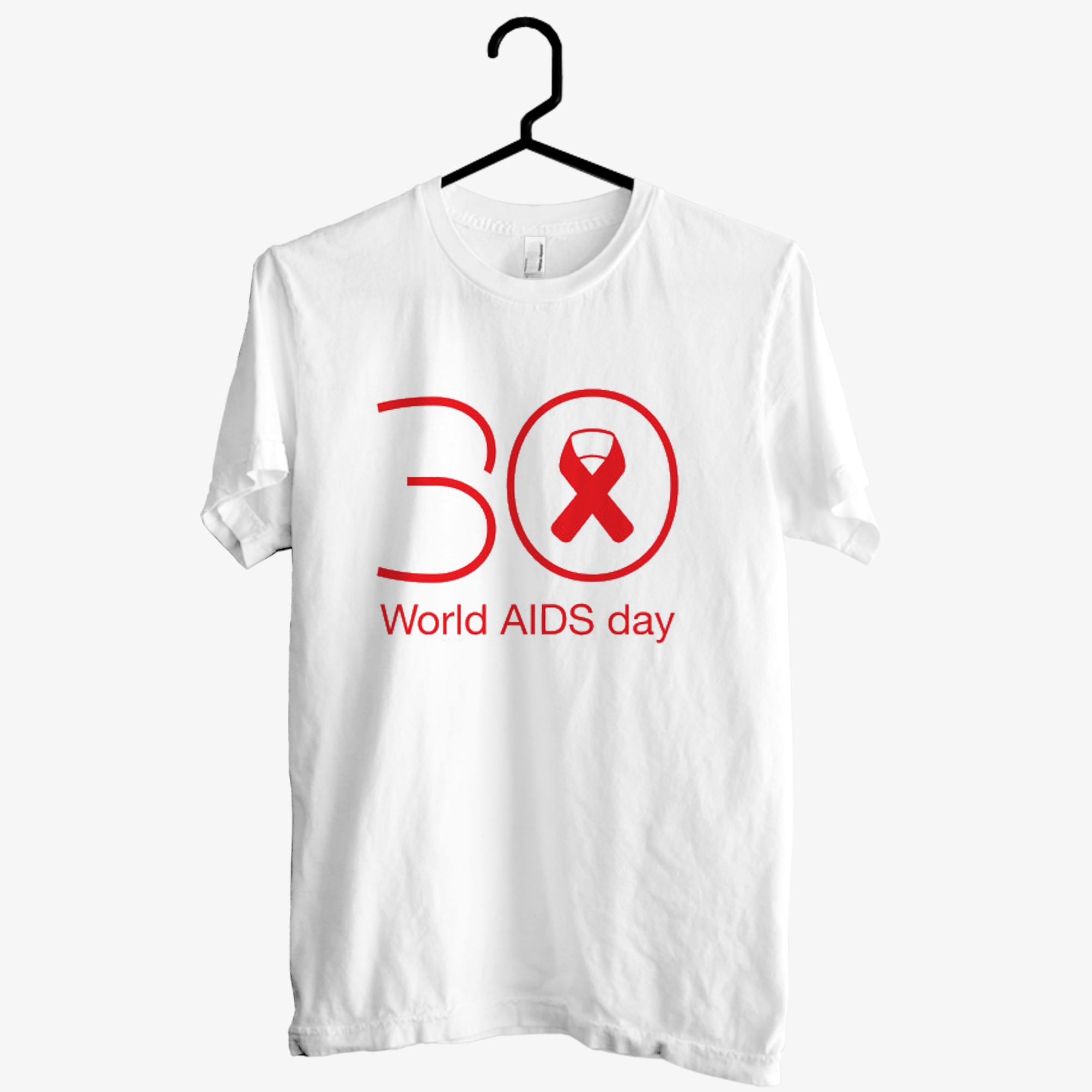 30th World AIDS day T shirt