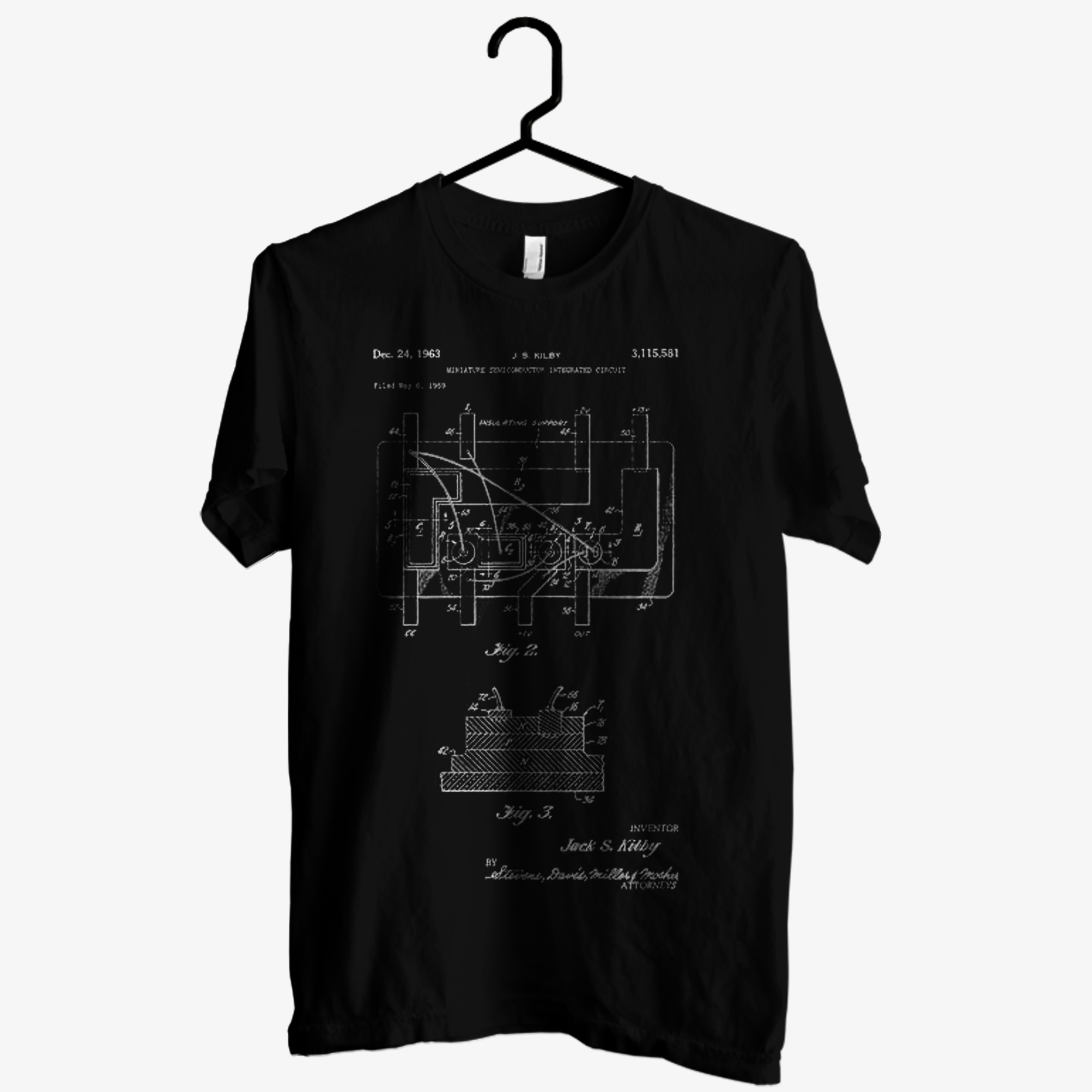 First Integrated Circuit Patent T shirt