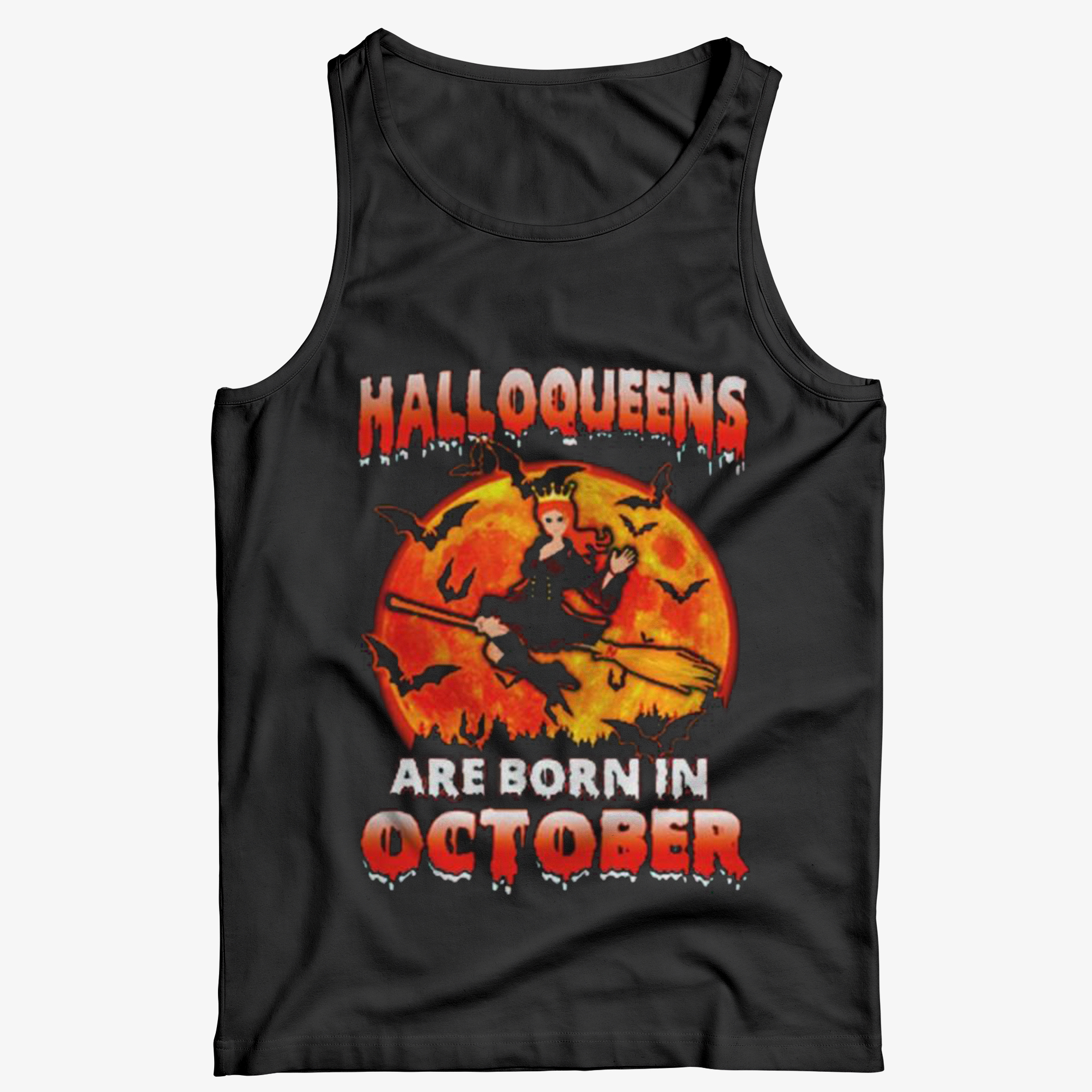 Halloqueens Are Born In October Tank Top