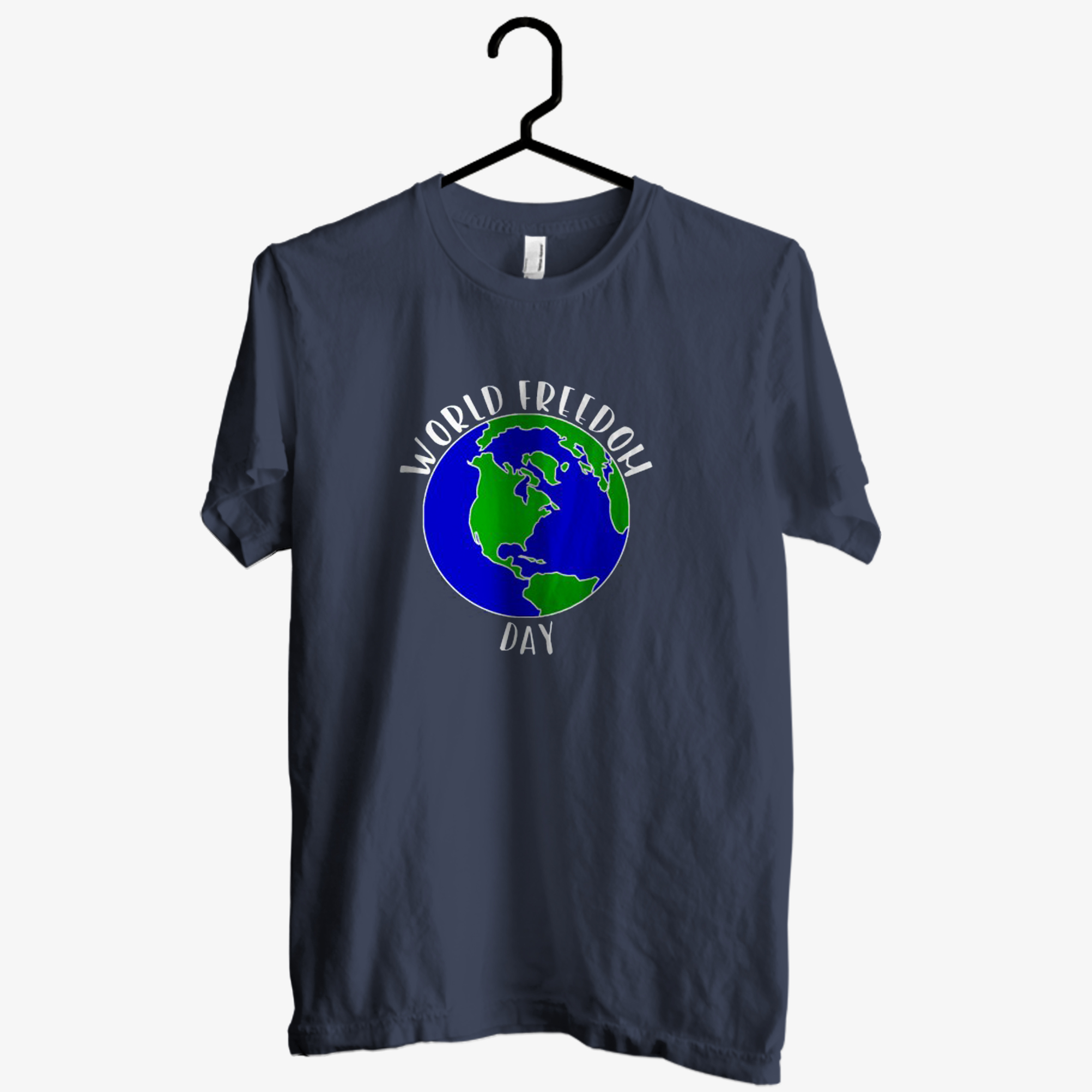 World Freedom Day Earth T shirt