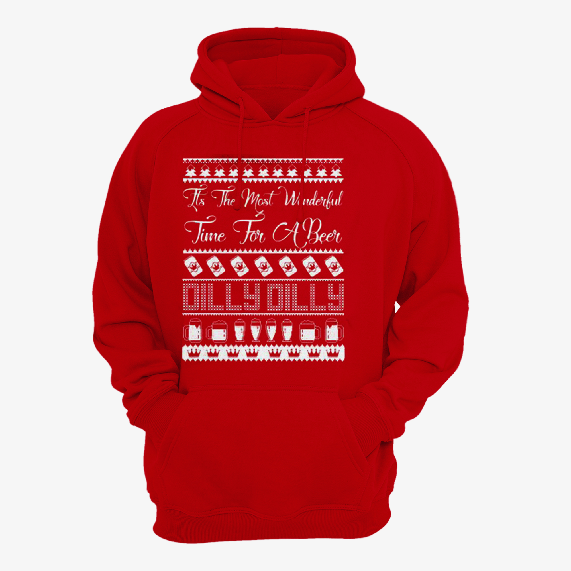 Dilly Dilly Its the Most Wonderful Time For A Beer Ugly Christmas Hoodie