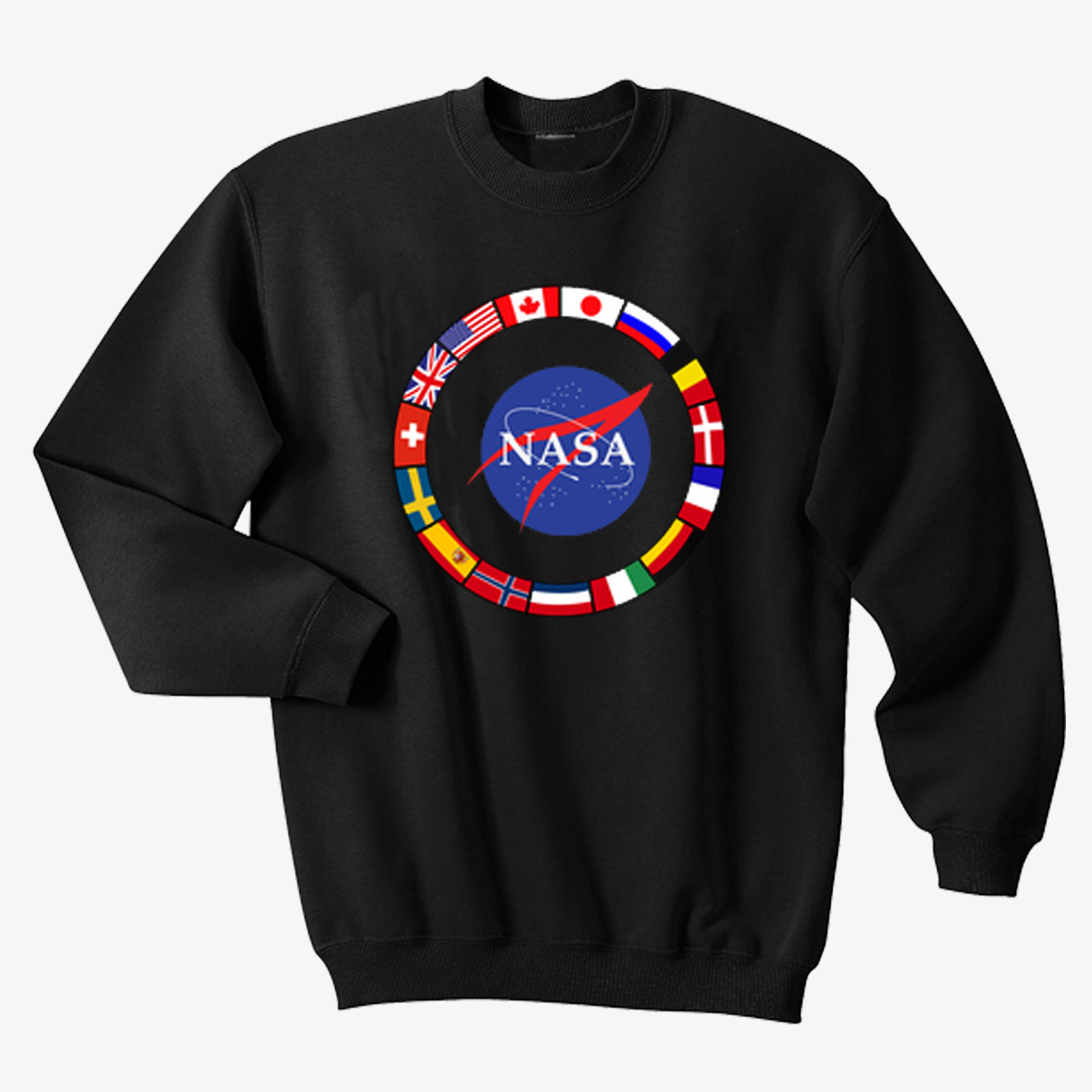 Nasa All Country's Flags Sweatshirt