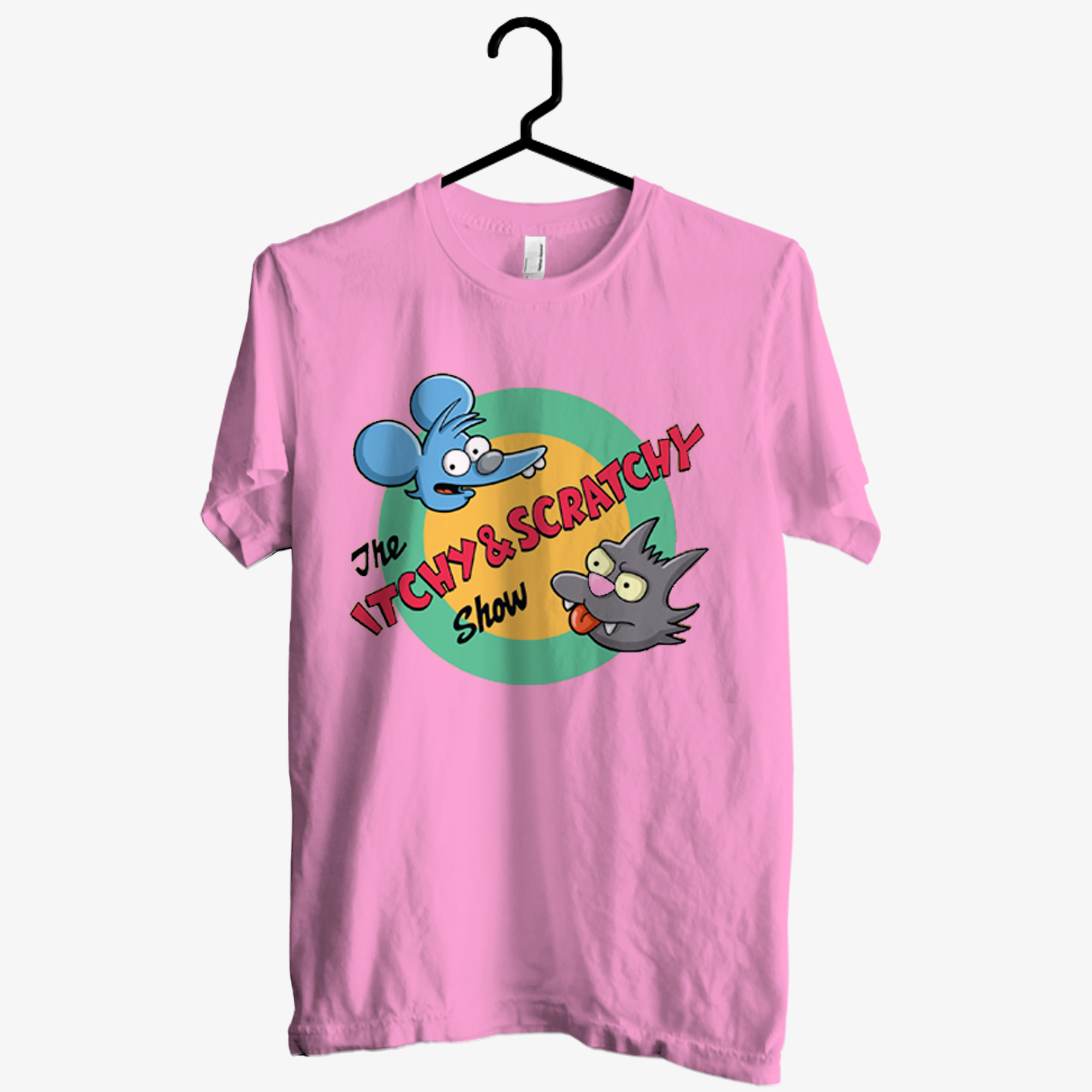 The Itchy And Scratchy Show Light Pink T shirt