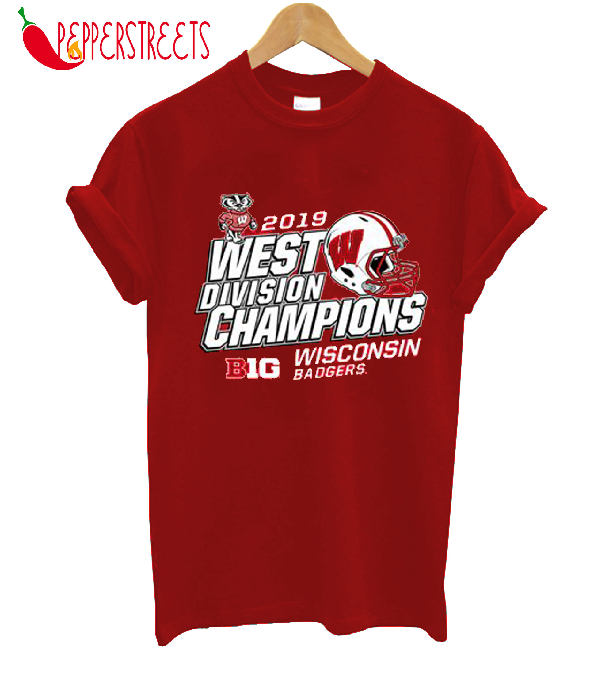 2019 West Division Champions Wisconsin Badgers T-Shirt