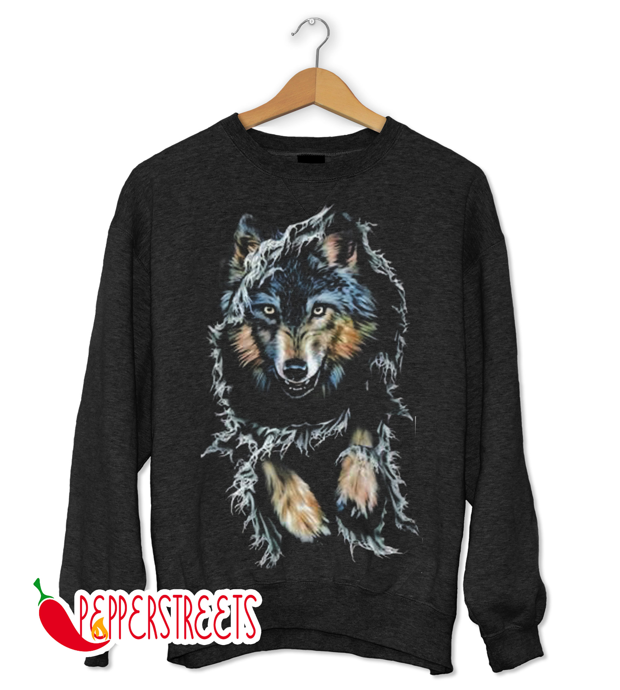 A Very Horrible Jungle Wolf Sweatshirt