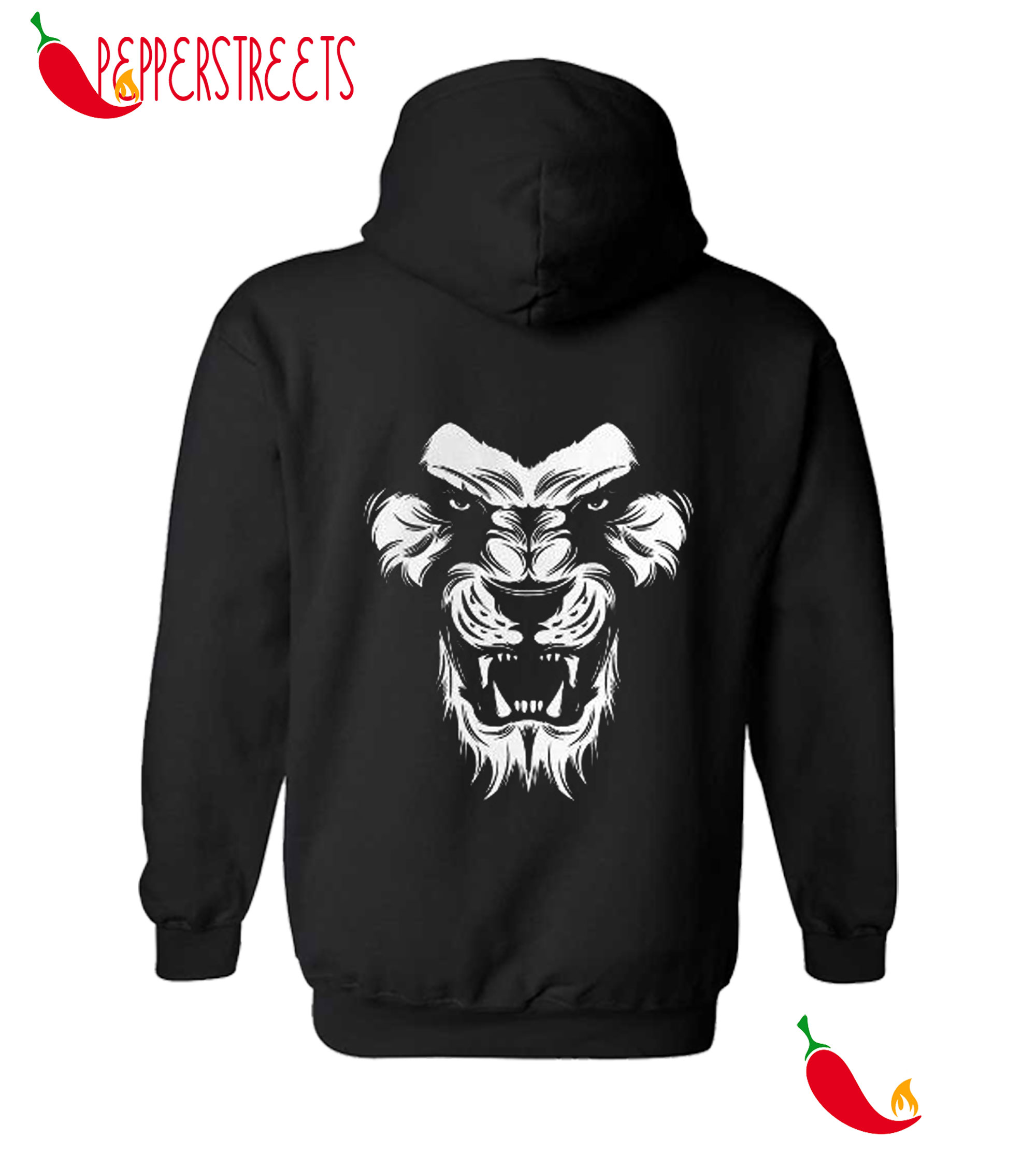 Angry Lion King Of The Jungle Animal Graphic Hoodie