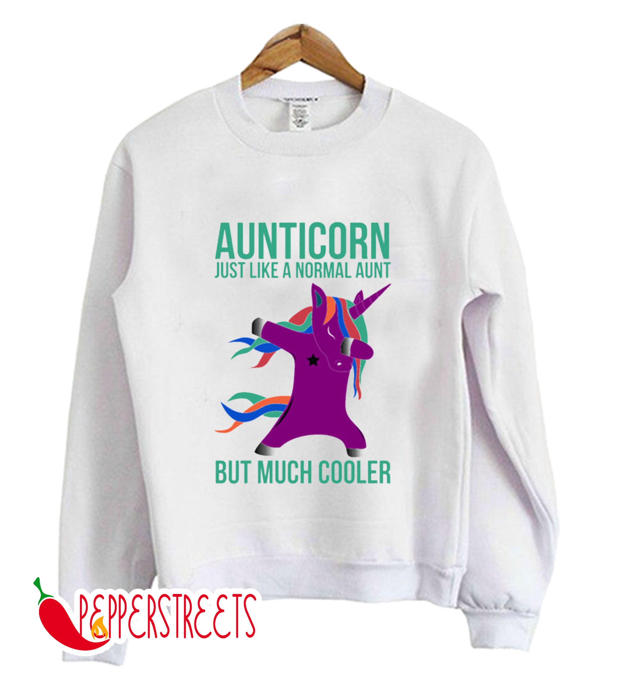 Aunticorn Unicorn Gift For Cool Aunt Sweatshirt