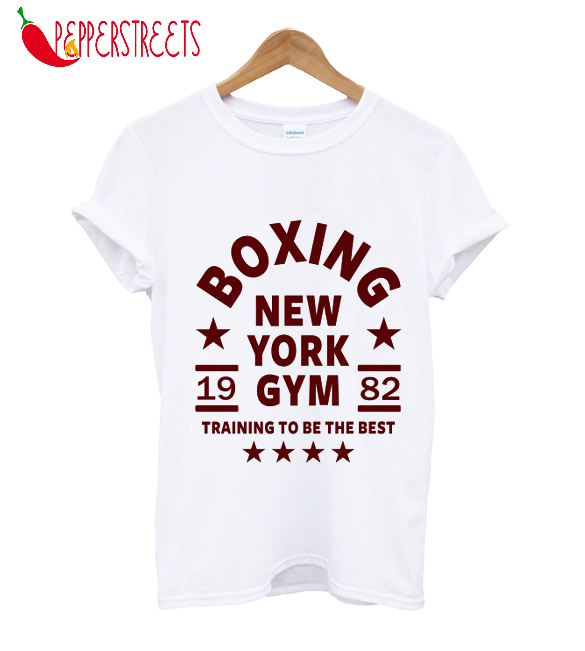 Boxing New York Gym 1982 Training To The Best T-Shirt