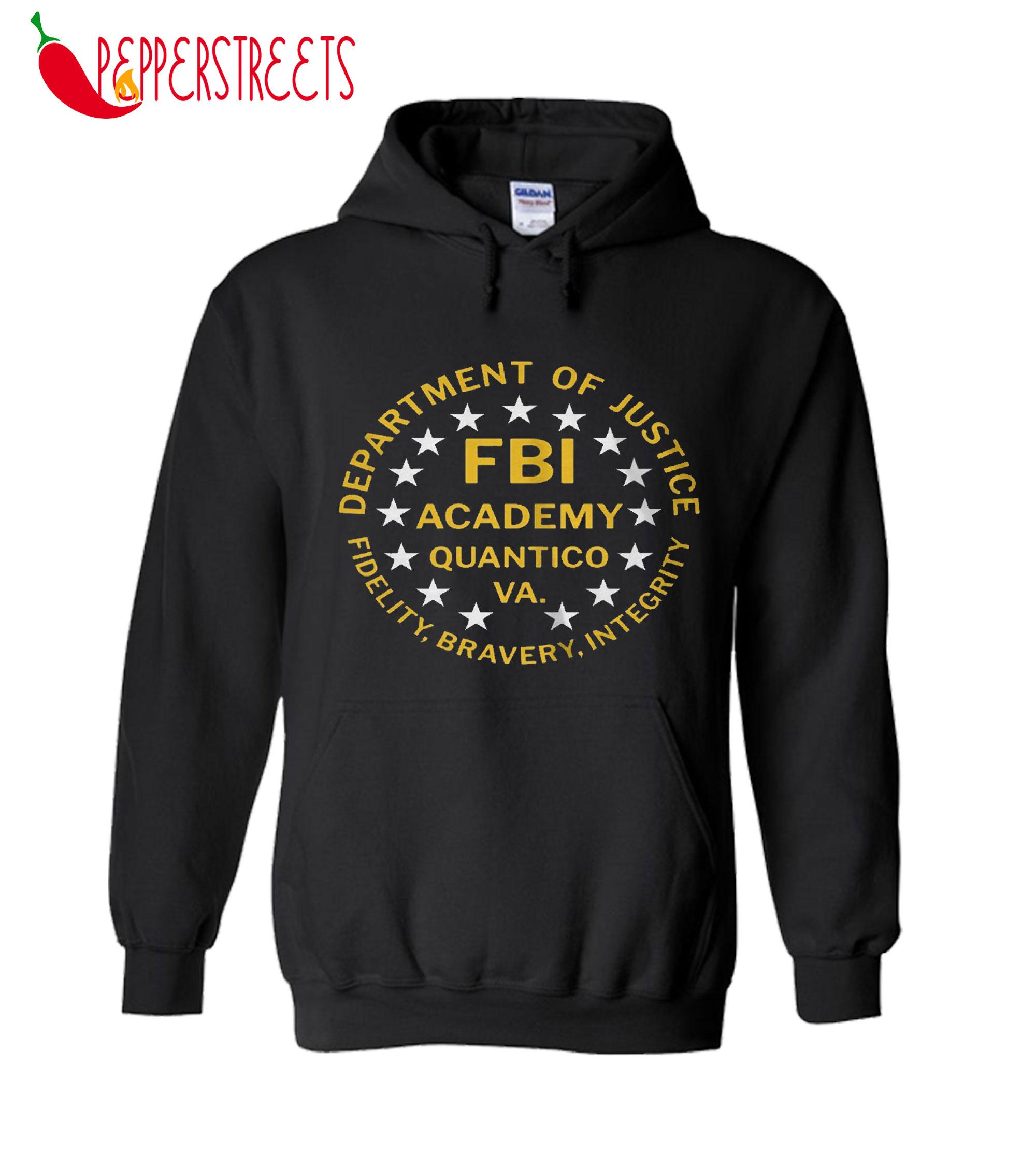Fbi Academy Quantico Va Department Of Justice Hoodie