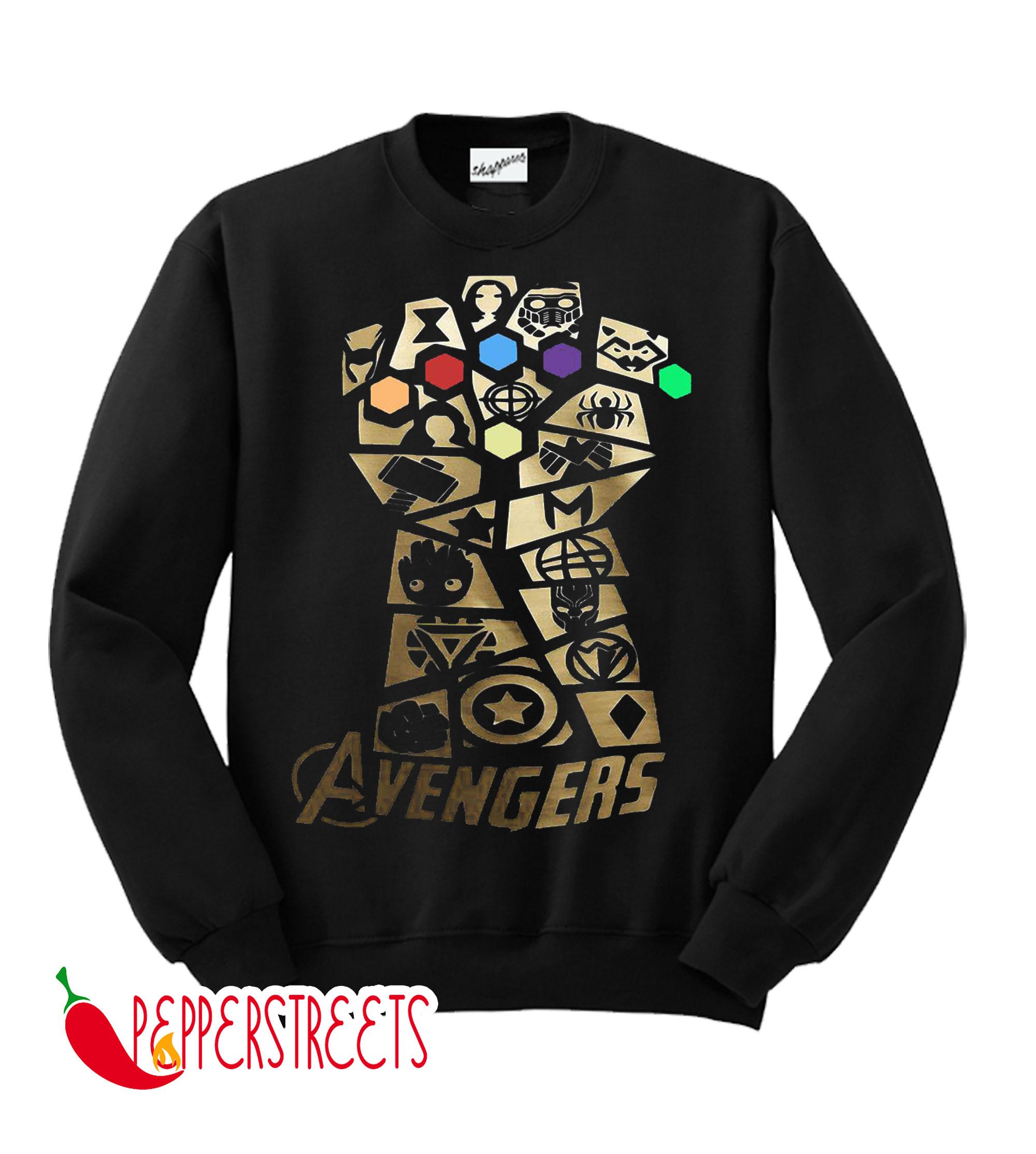 Infinity Gauntlet Thanos Marvel Avengers Endgame Sweatshirt