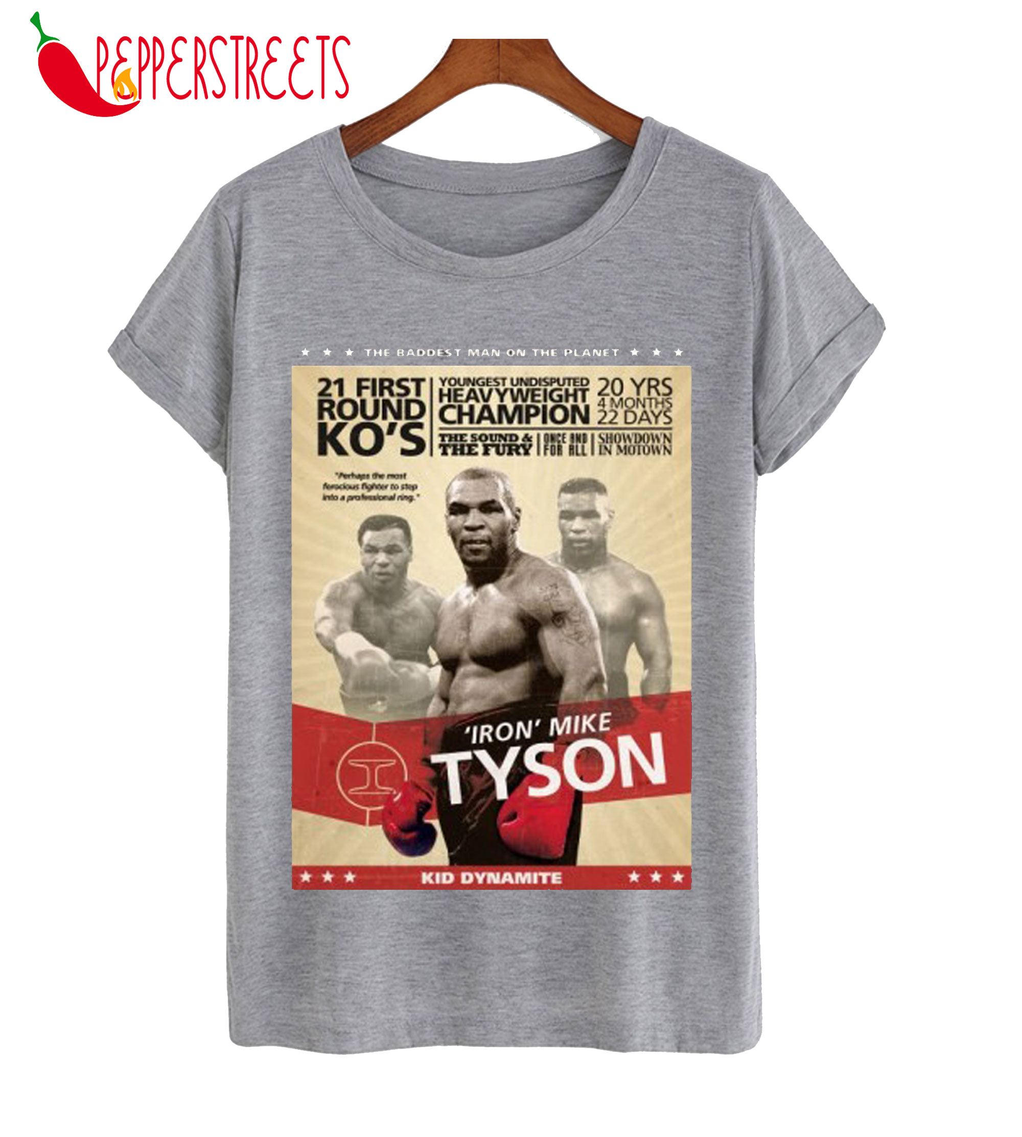 Mike Tyson Boxing Poster T-Shirt