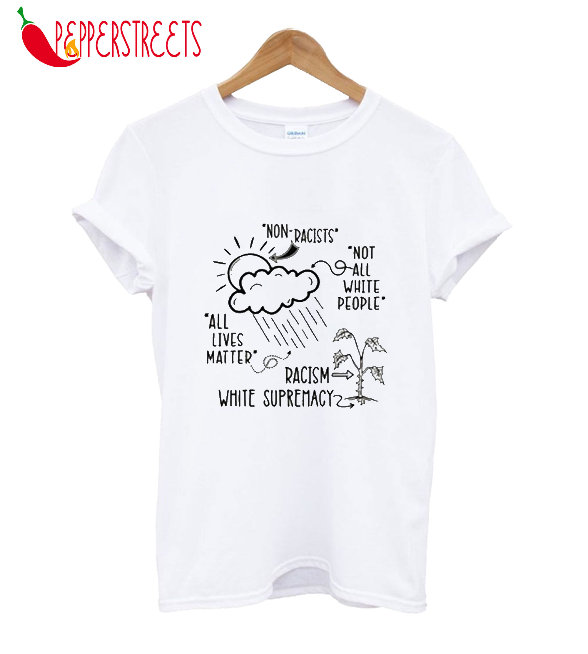 Non Racists All Lives Materr Racism White Supremacy T-Shirt