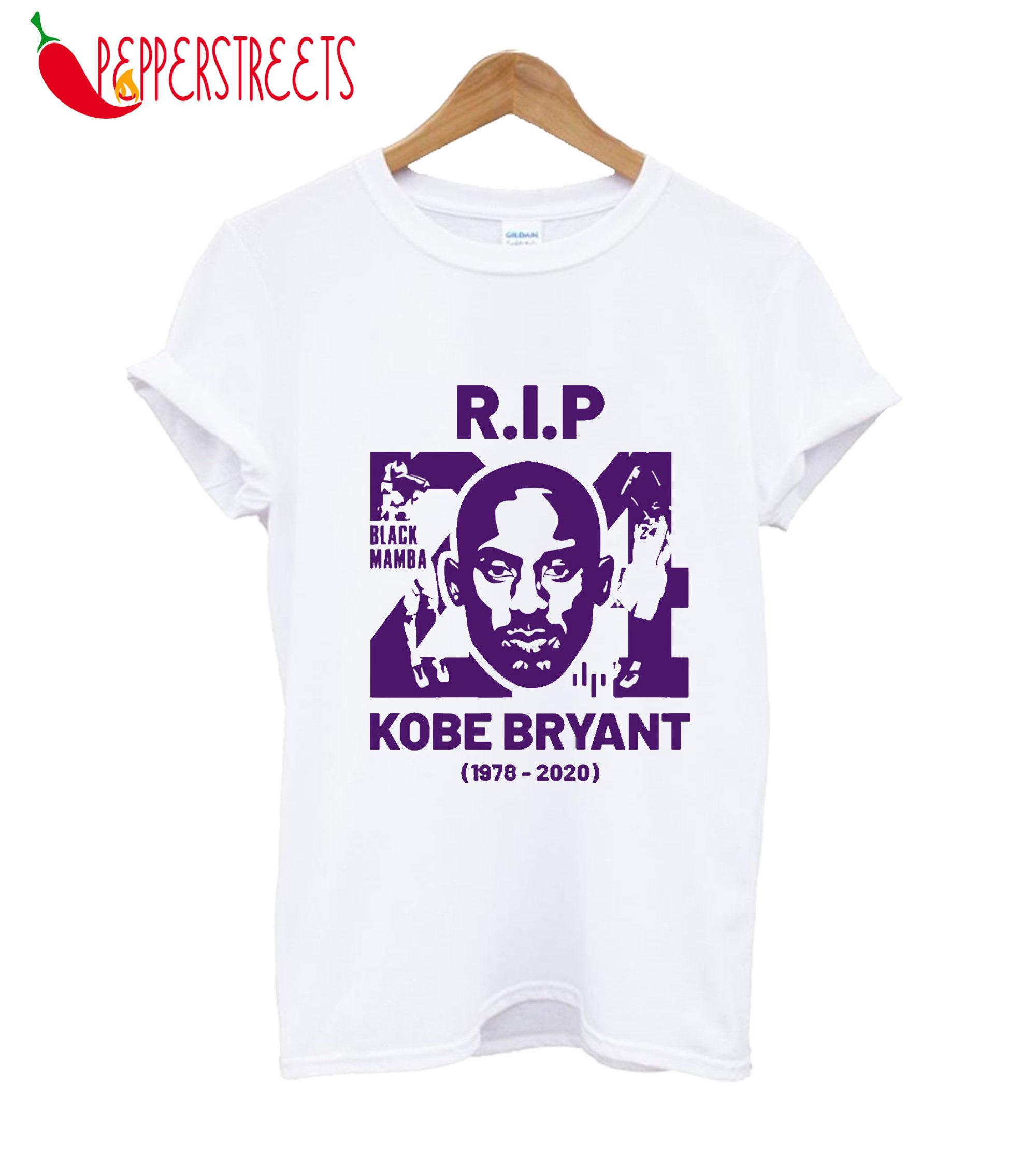 RIP Kobe Bryant (1978-2020) Black Mamba T-Shirt