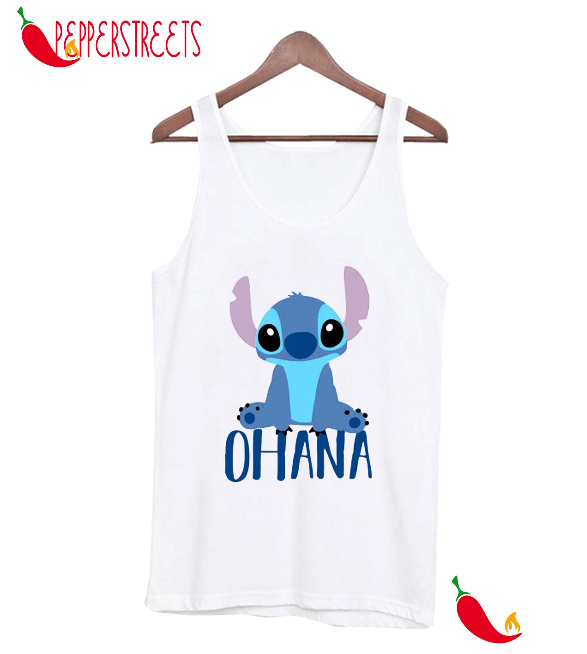 Stitch-Ohana-White-Tank-Top