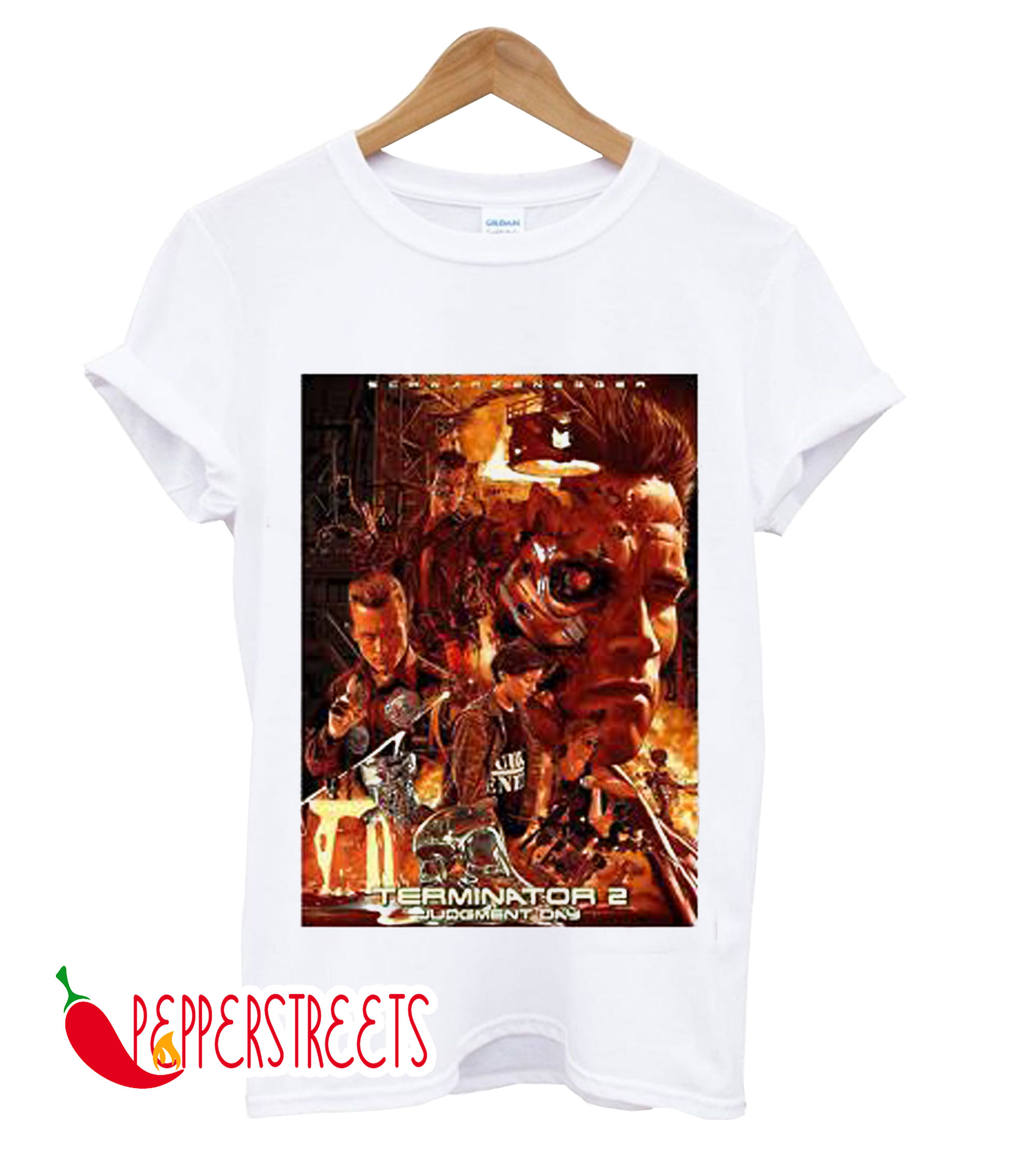 TERMINATOR 2 JUDGMENT DAY T2 RETRO SKYNET T-SHIRT