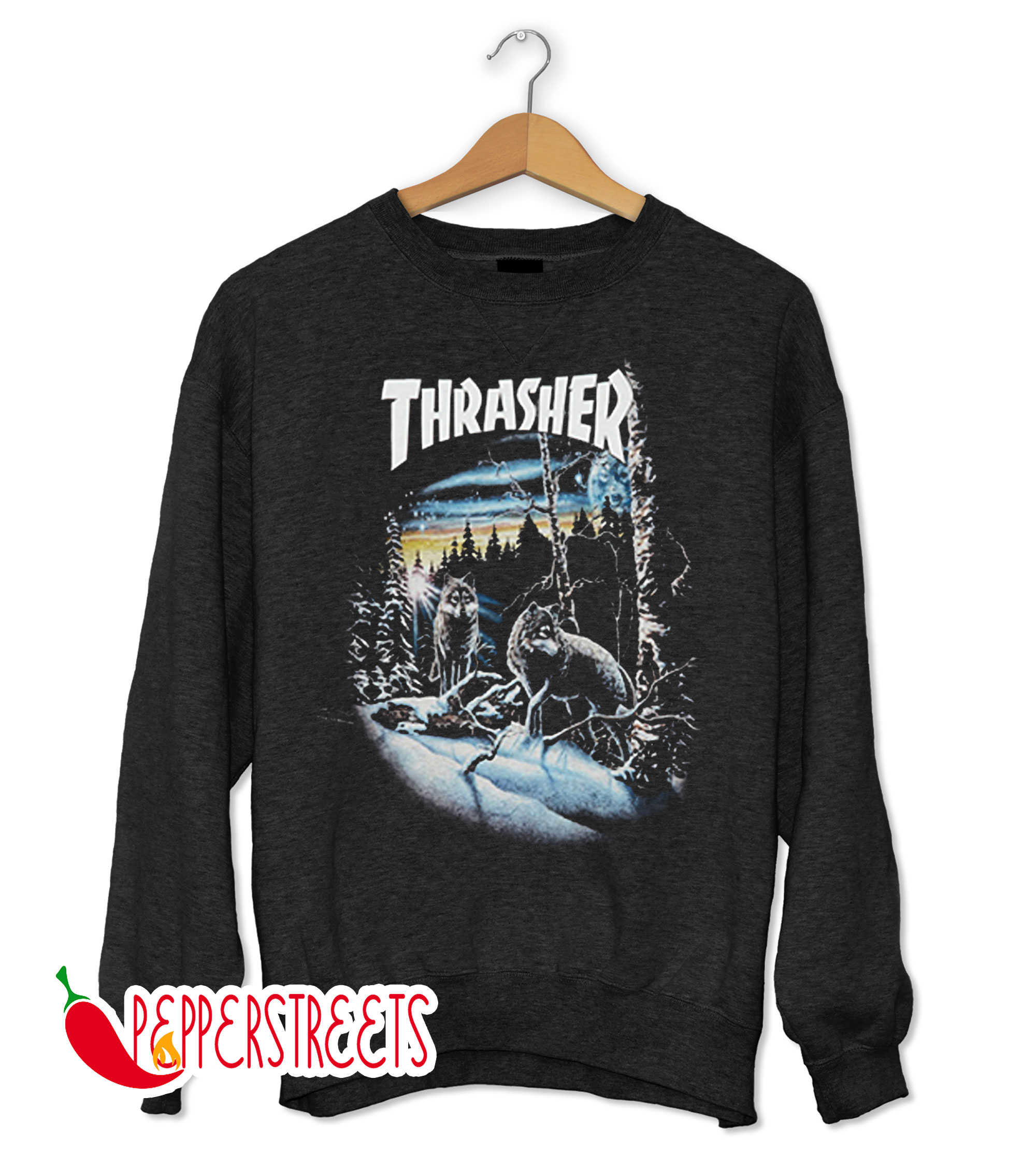 THRASHER 13 WOLVES SWEATSHIRT