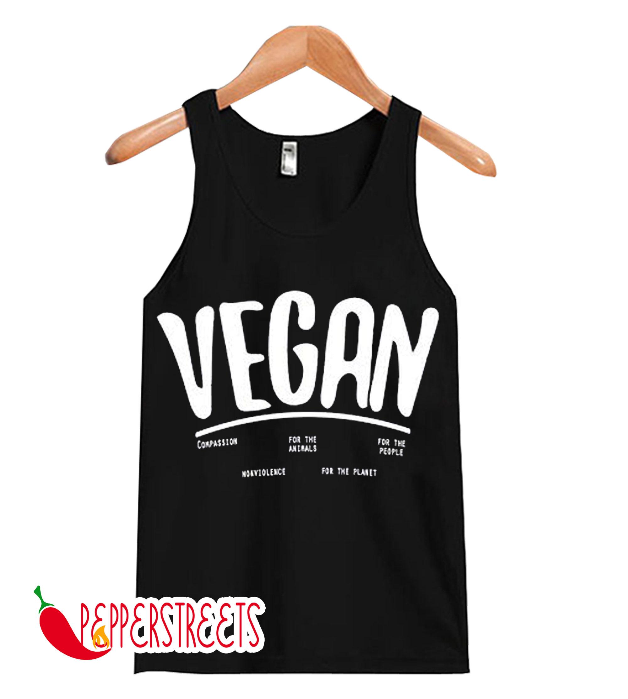 Vegan Men's Vegetarian Tank Tops