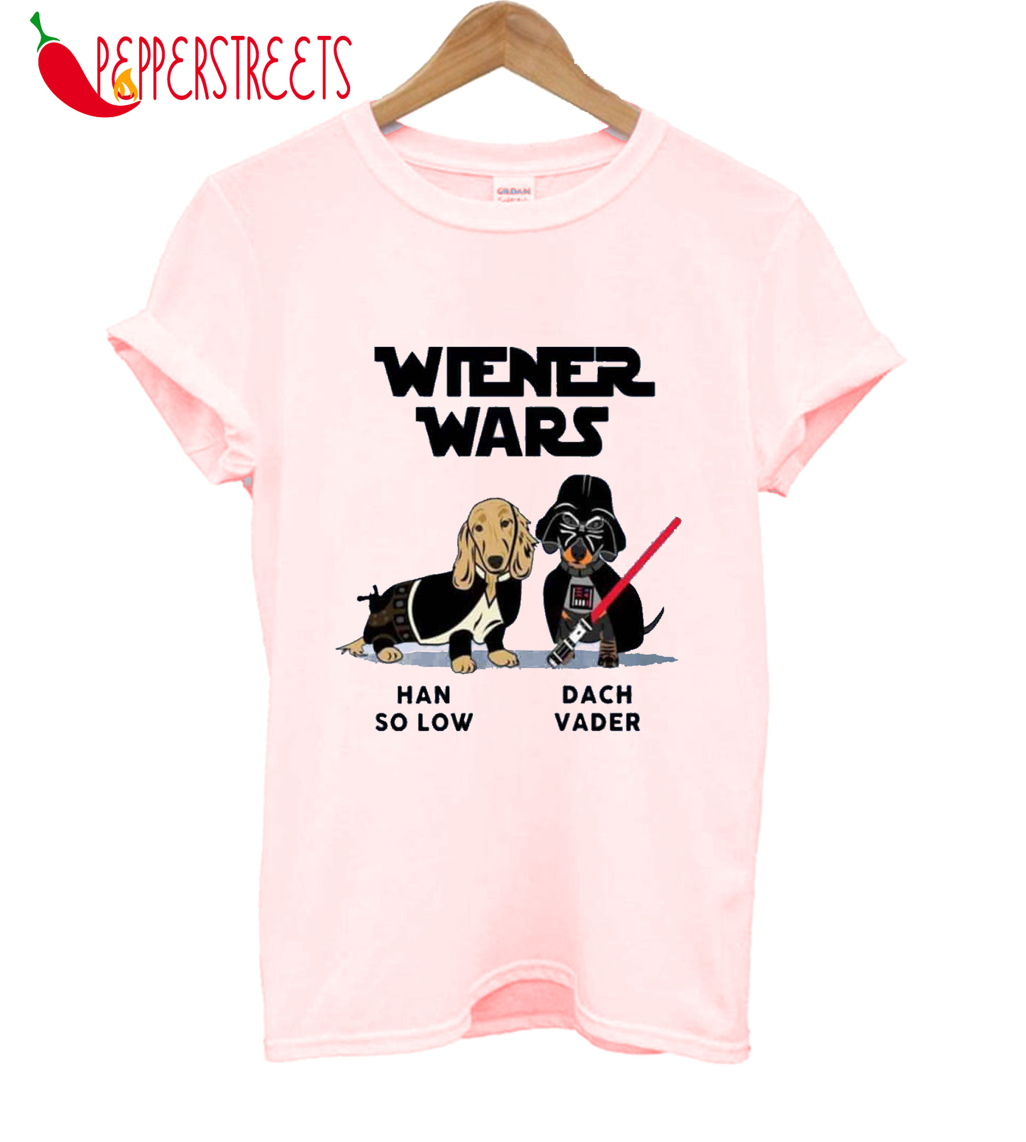 Wiener Wars Han So Low Dach Vader T-Shirt