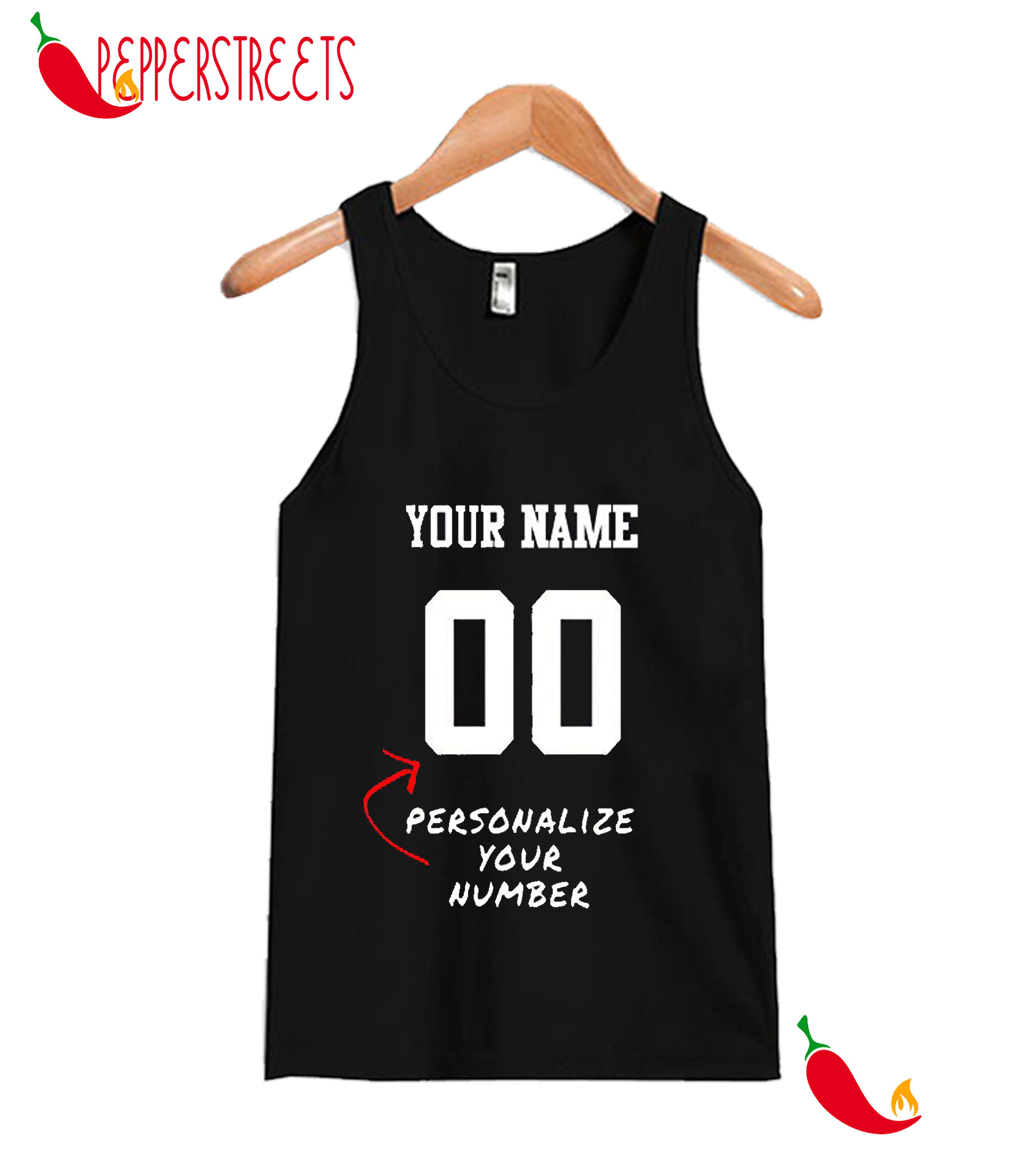 Your Name 00 Personalize Your Number Tank Top