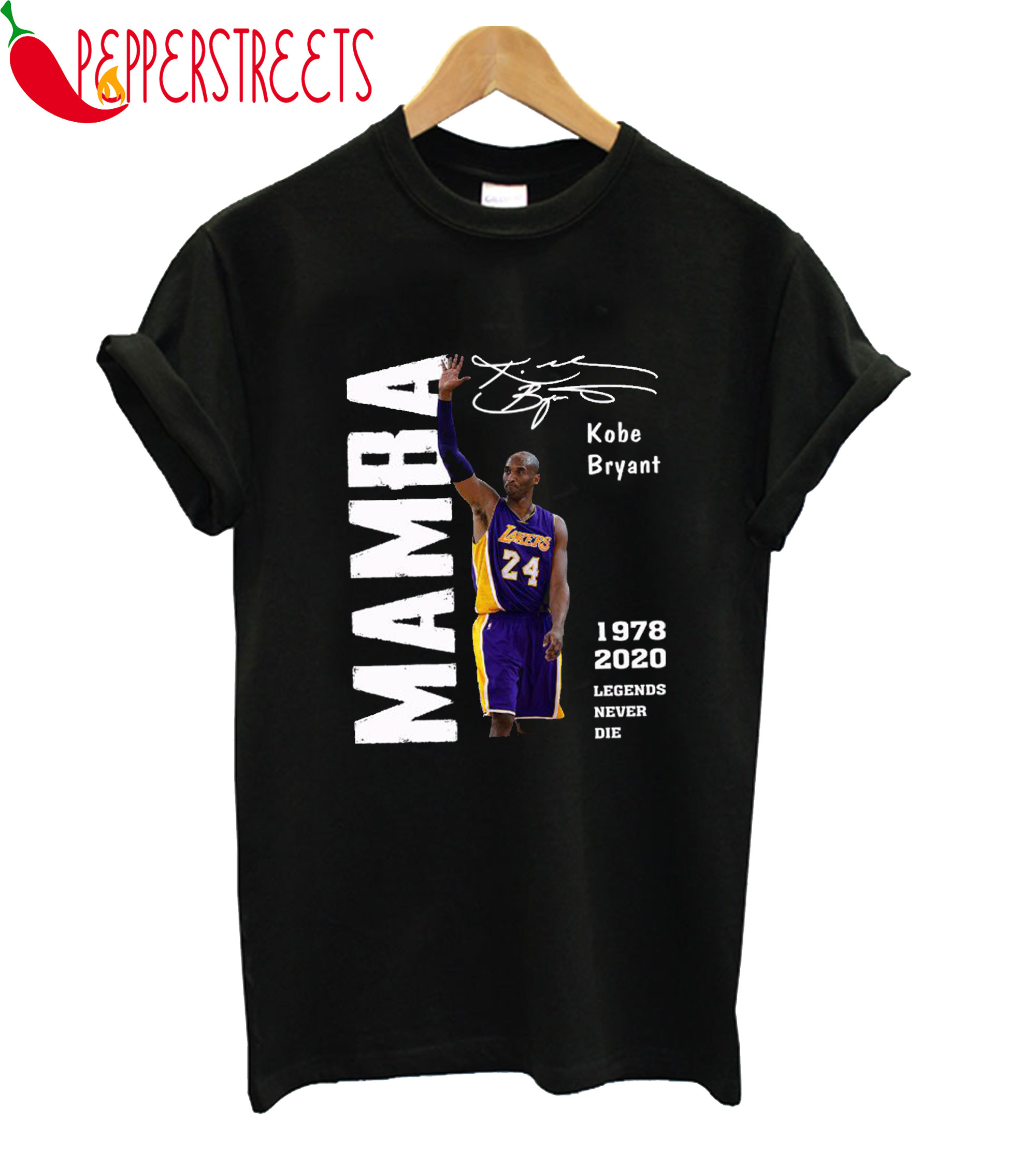 Mamba Kobe Bryant Legend Never Die T-Shirt