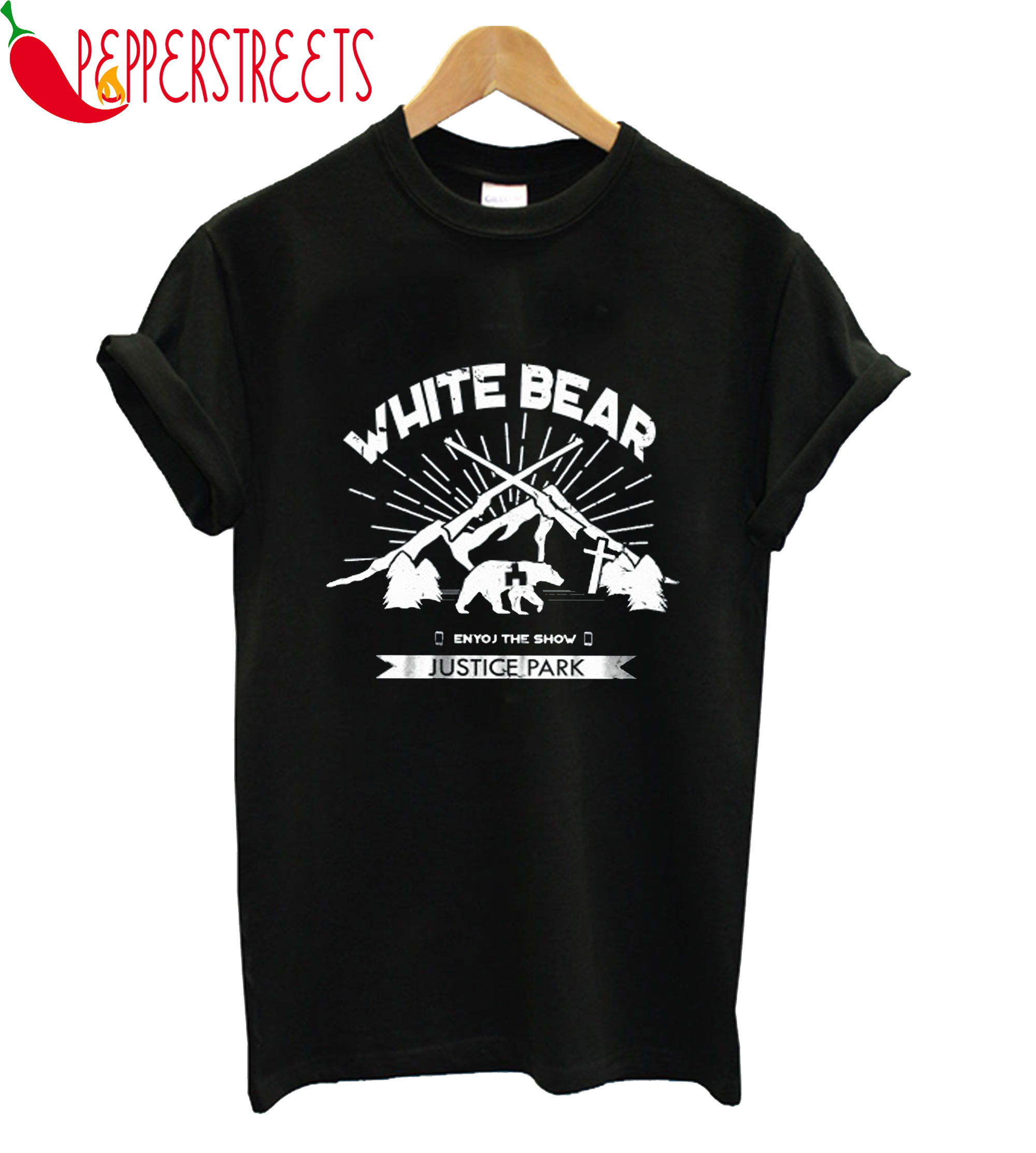 White Bear Enjoy The Show Justice Park T-Shirt
