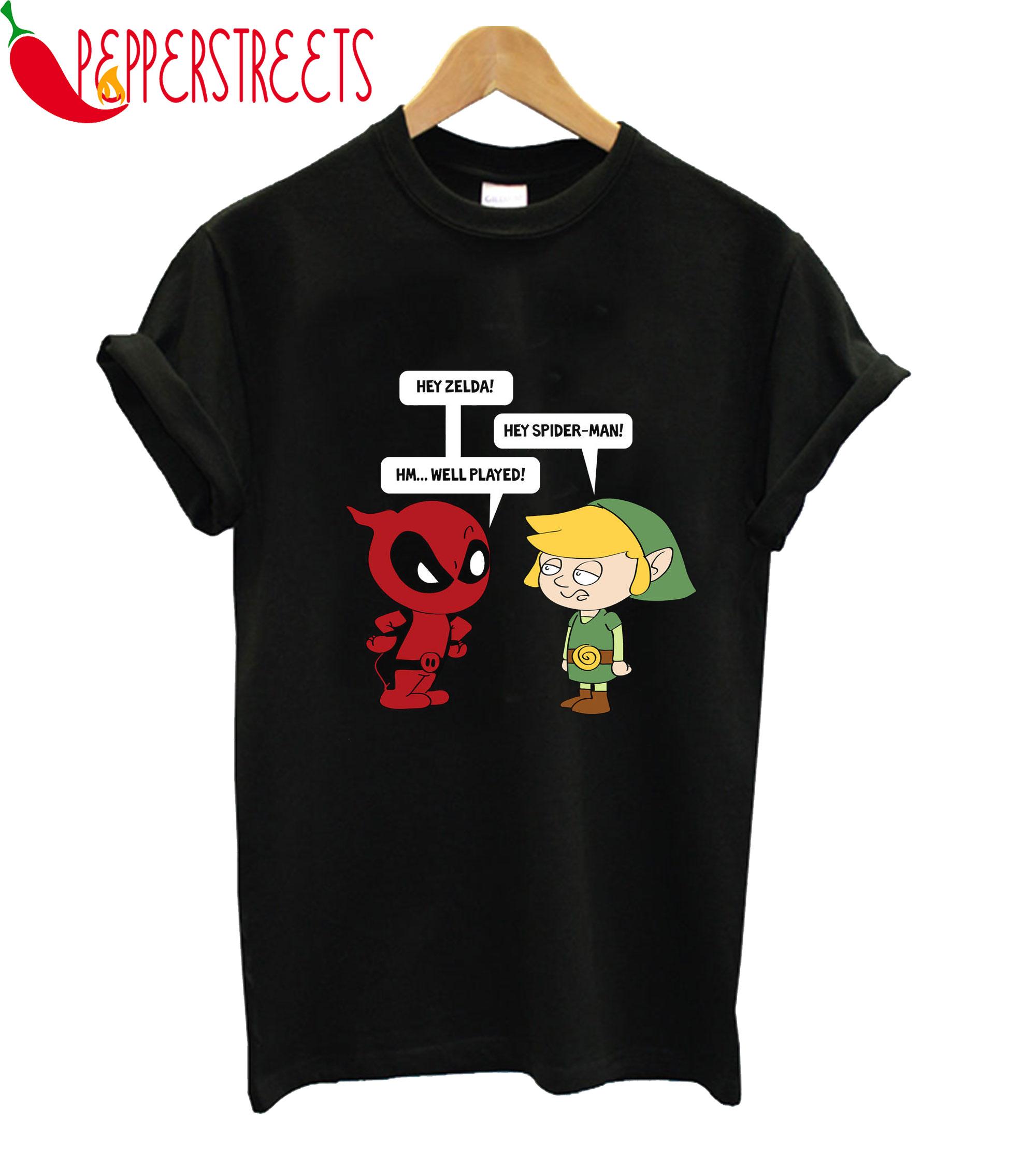 Zelda With Spider-man T-Shirt