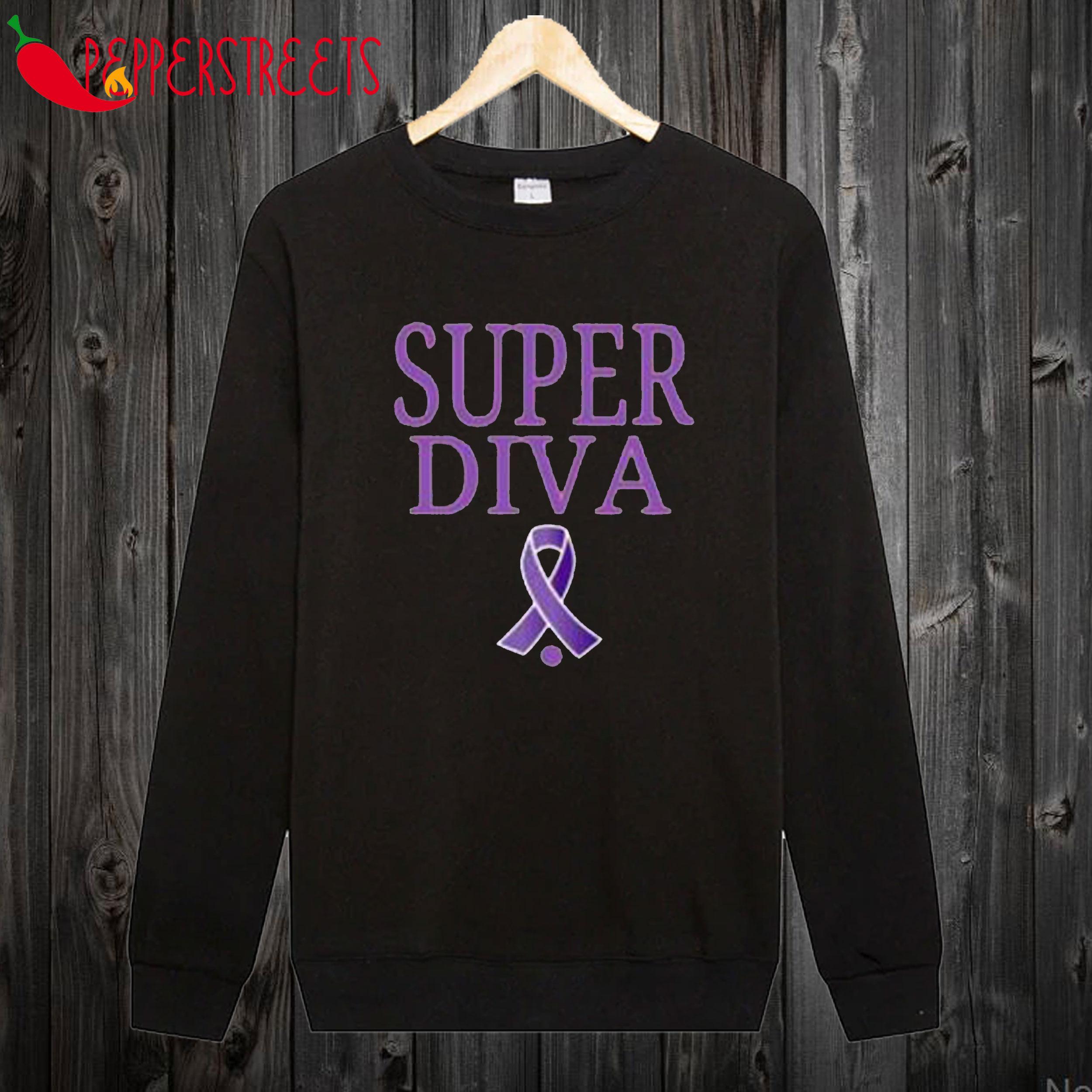 Super Diva Cancer Ruther Bader Ginsburg Sweatshirt