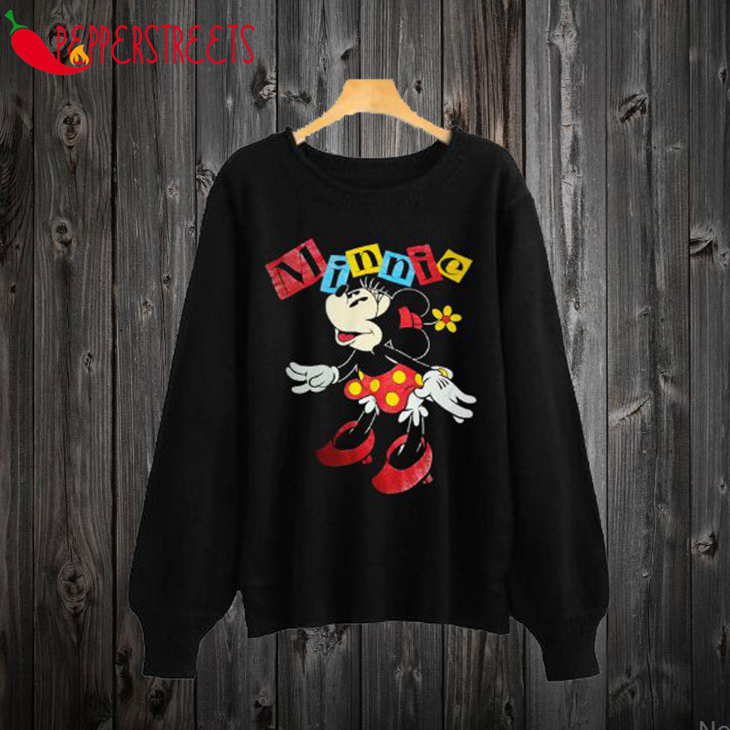 Vintage Minnie Mouse Black Sweatshirt