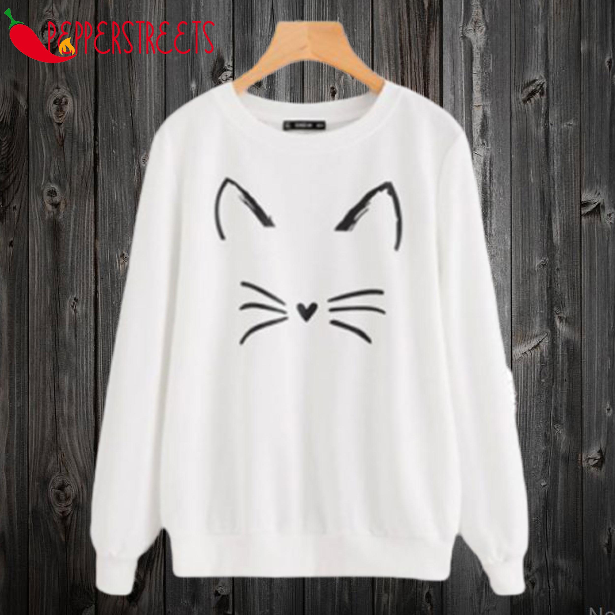 Cute Cat Face Sweatshirt