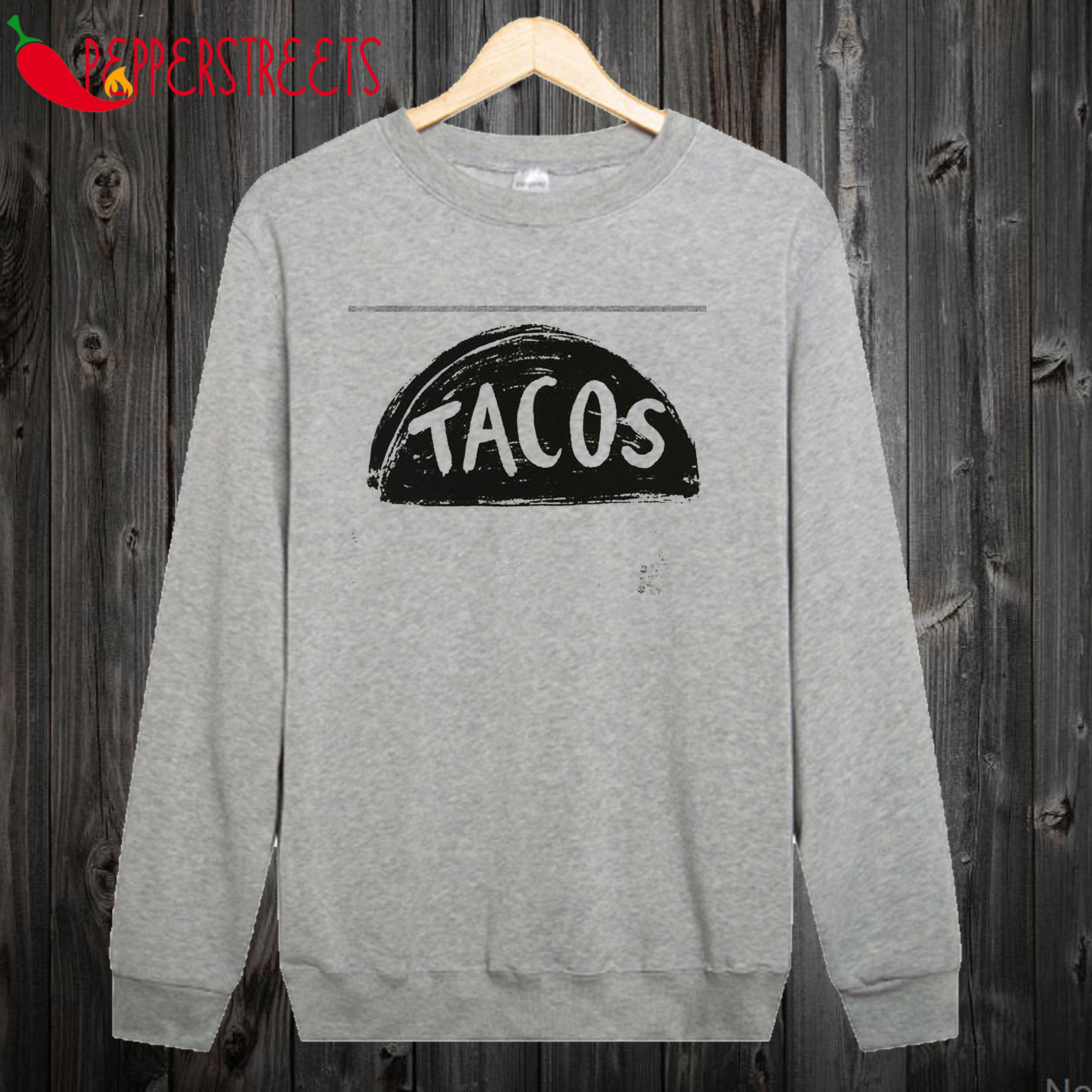 Ladies Slouchy Taco Lover Pullover Sweatshirt