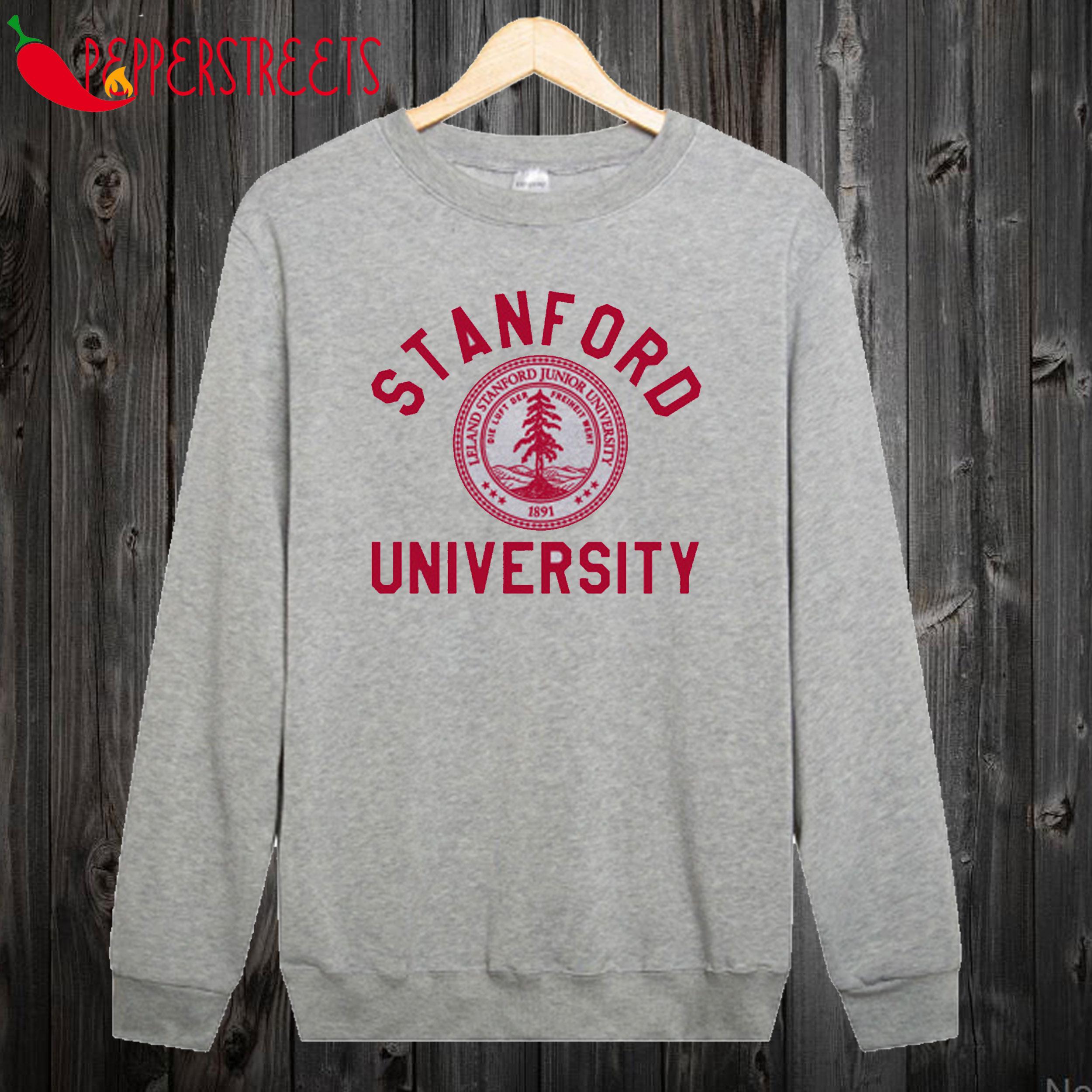 Stanford University Logo Grey Madam Annie Leblanc Grey Sweatshirt