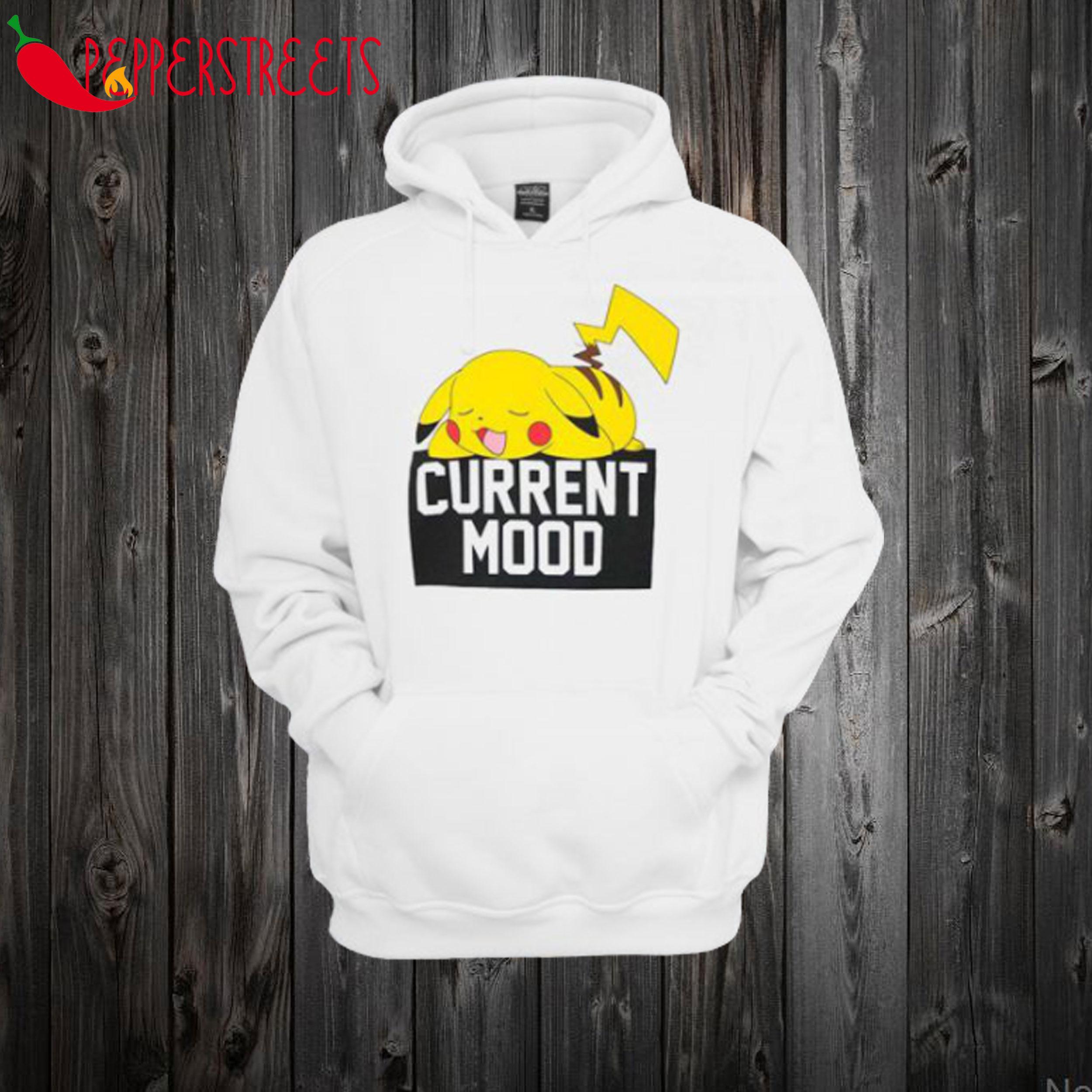 Pokemon Pikachu Current Mood Hoodie