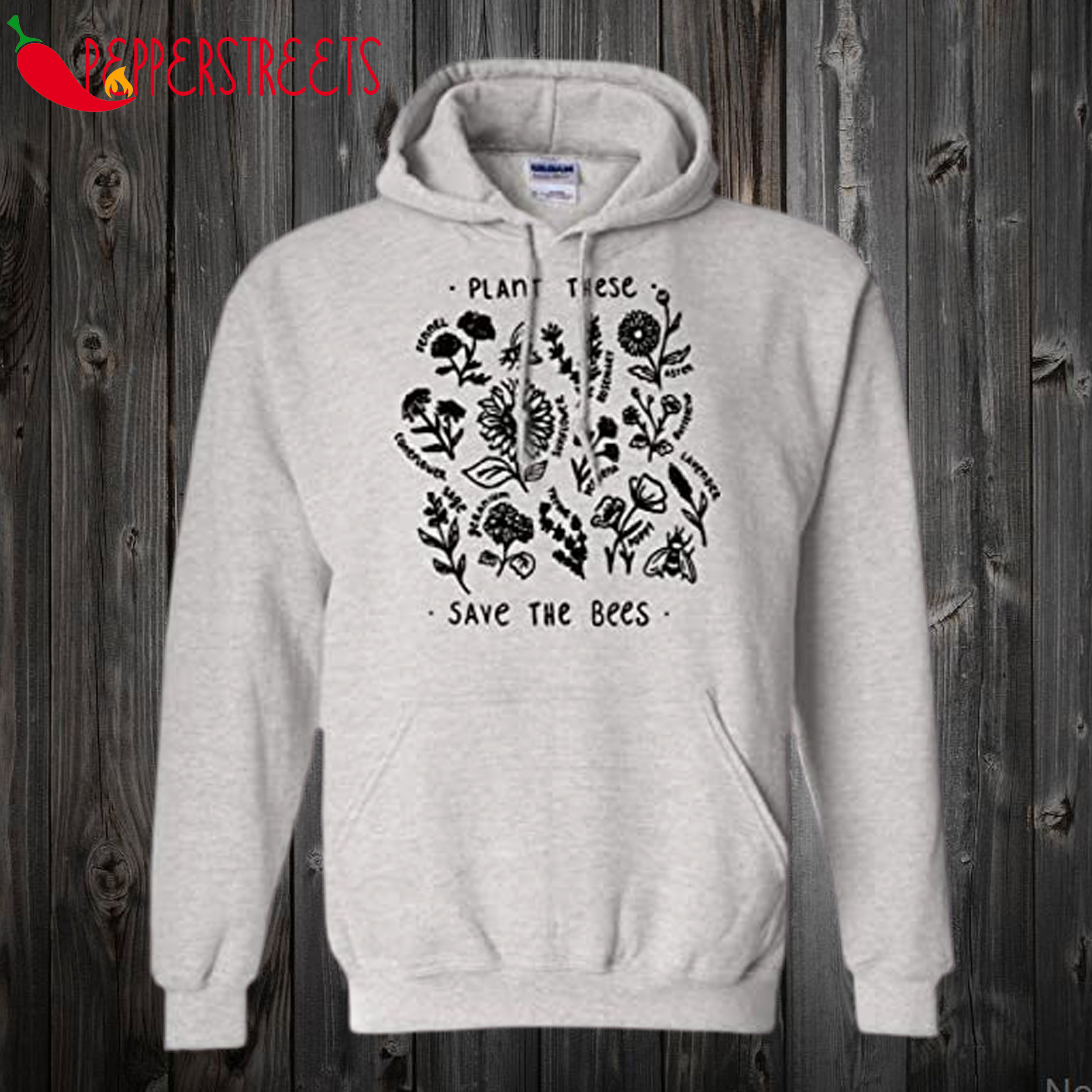 Plant These Save The Bees Hoodie