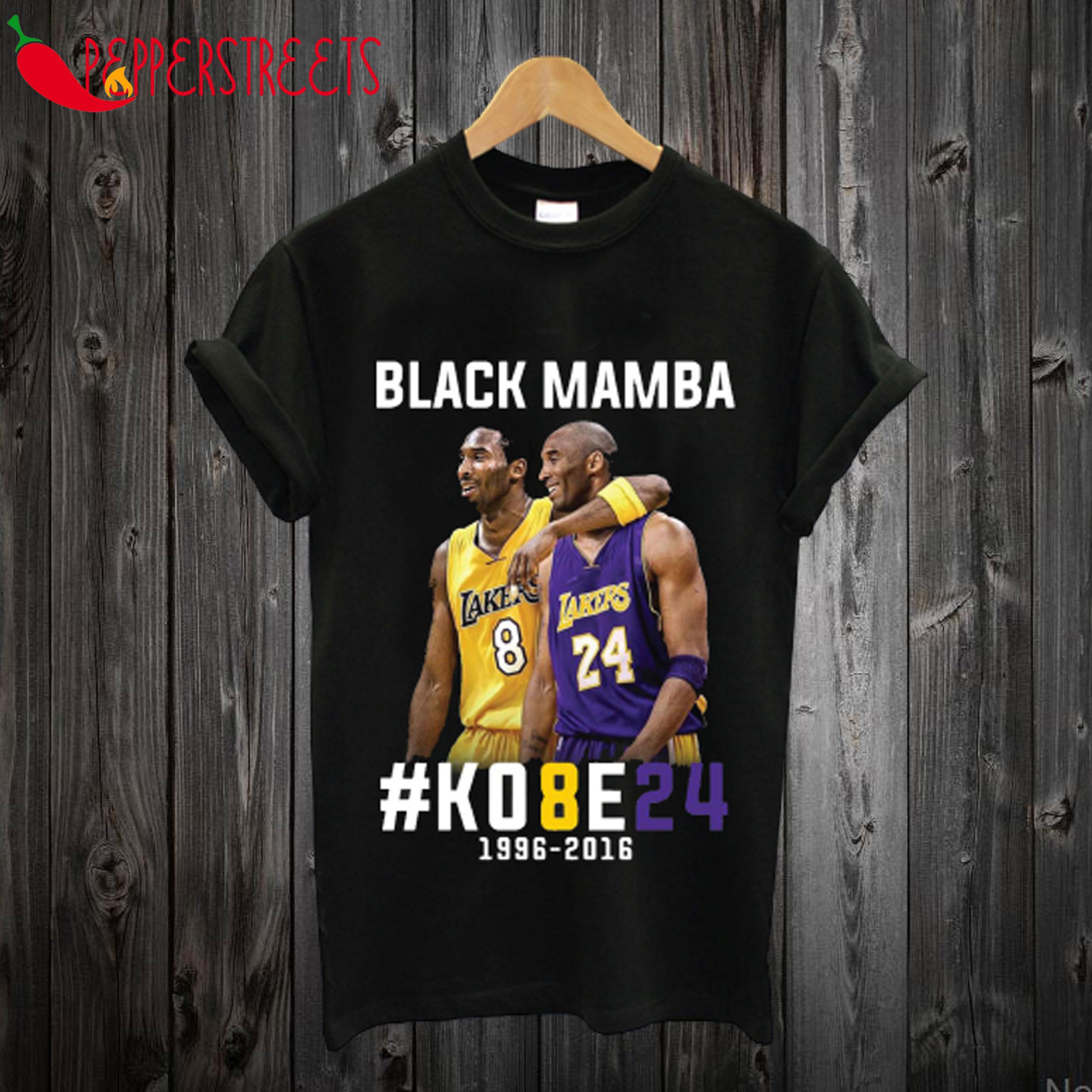 Kobe Bryant Black Mamba 24 T Shirt