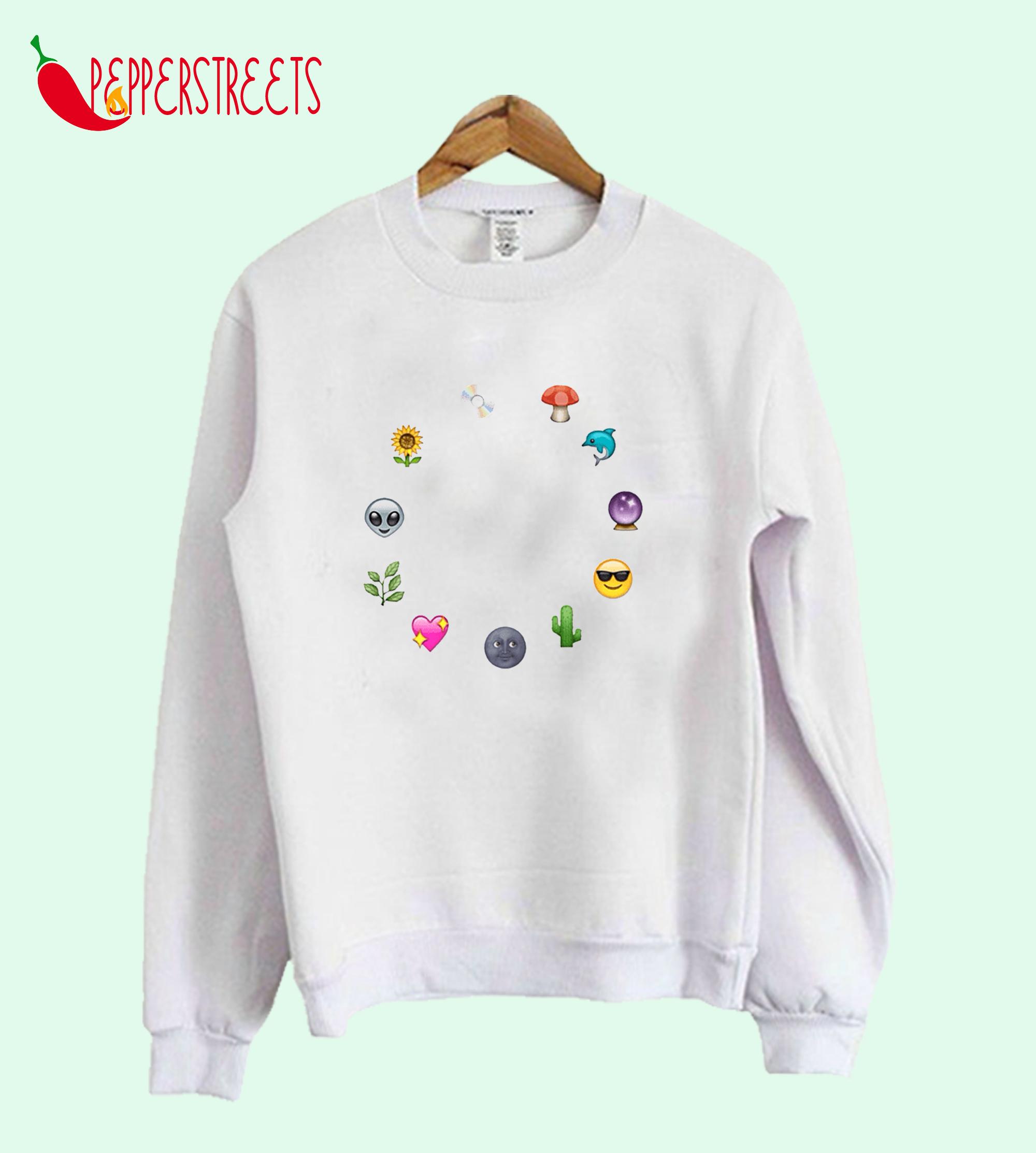 Aesthetic Emoji's Sweetshirt