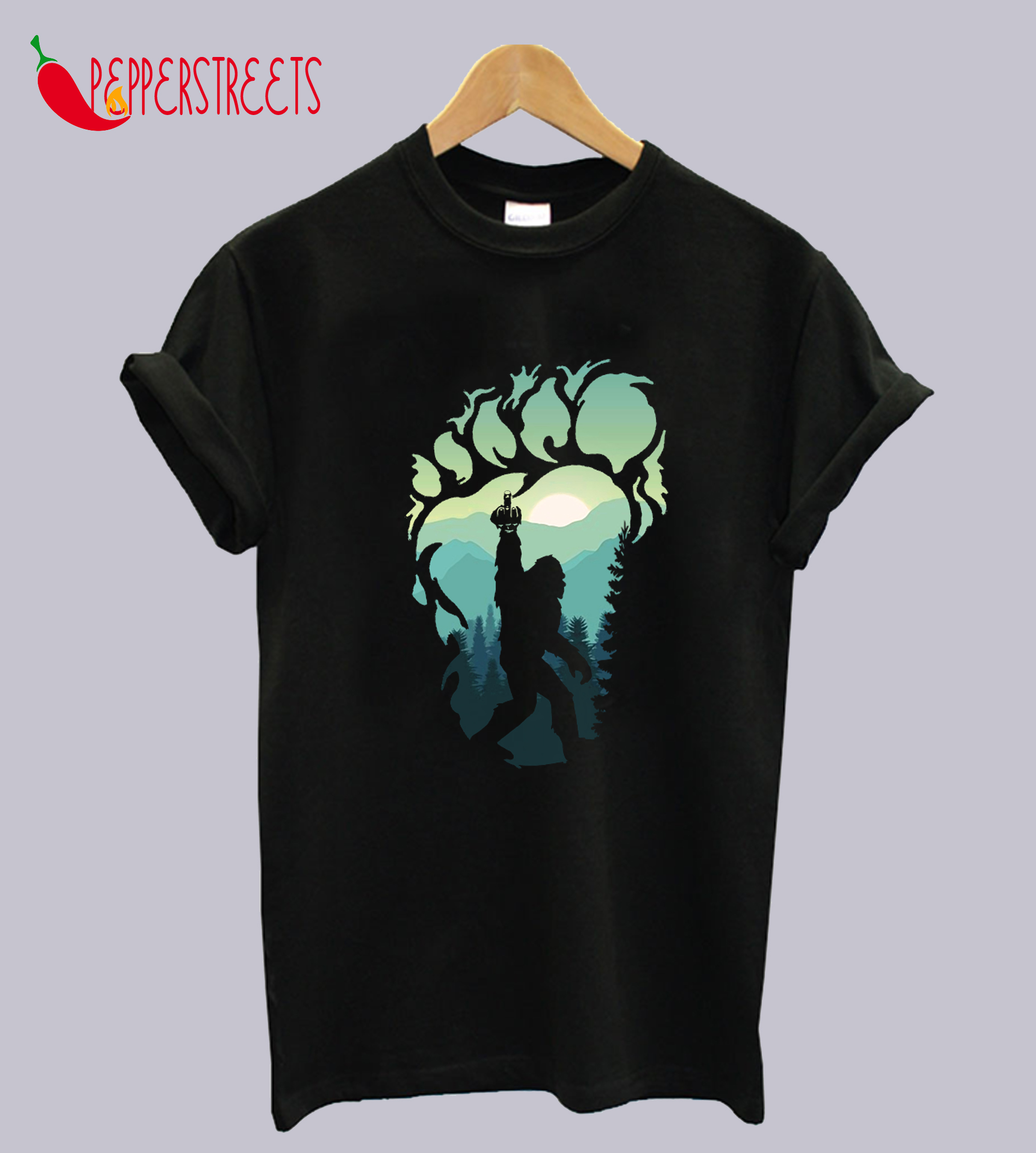 Shadow Bigfoot Middle Finger T-Shirt