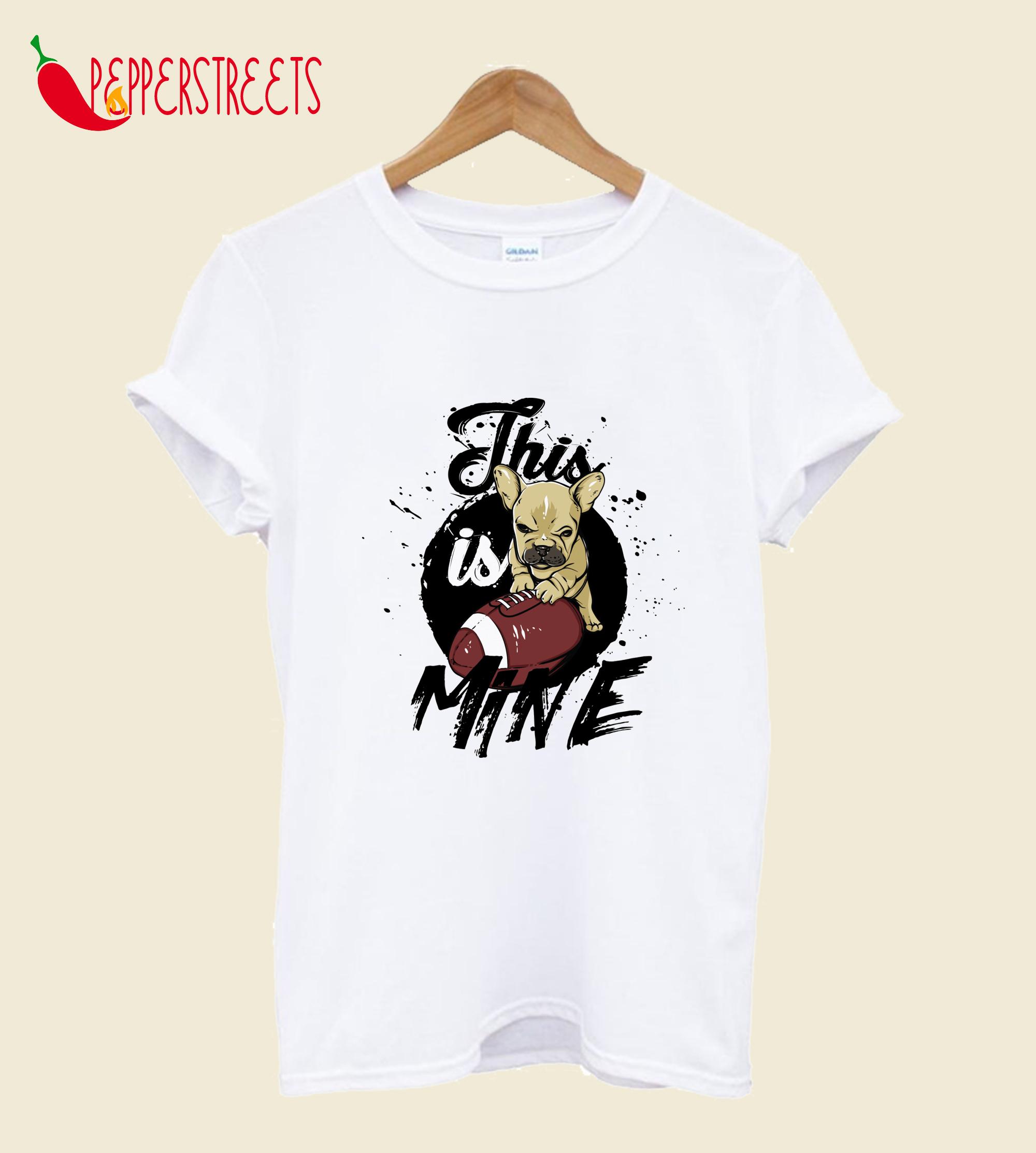 This Is Mine Cartoon T-Shirt