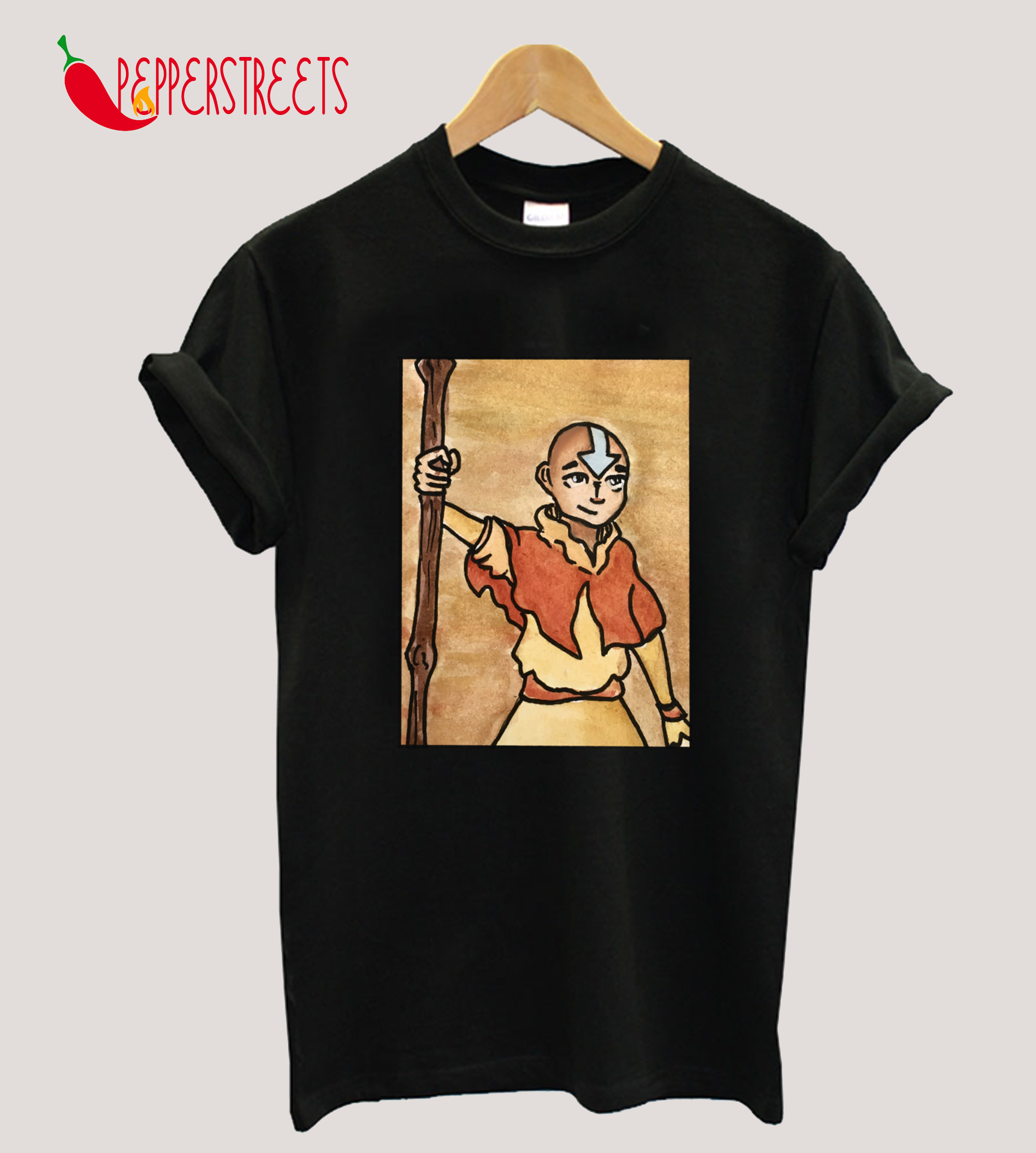 The Last Paintbender Avatar Aang Art Nouveau T-Shirt