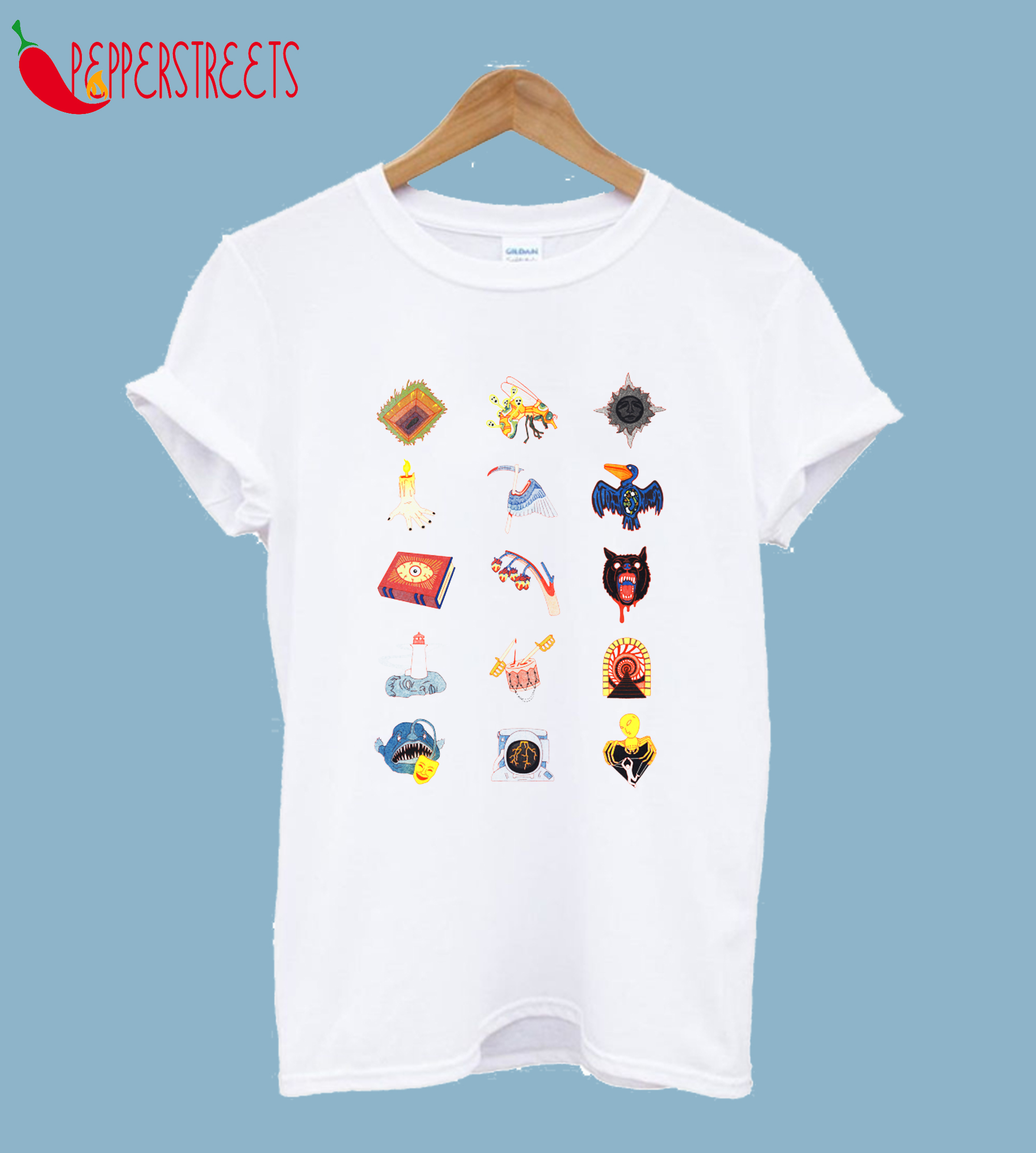 15 Fears Risograph Icons T-Shirt