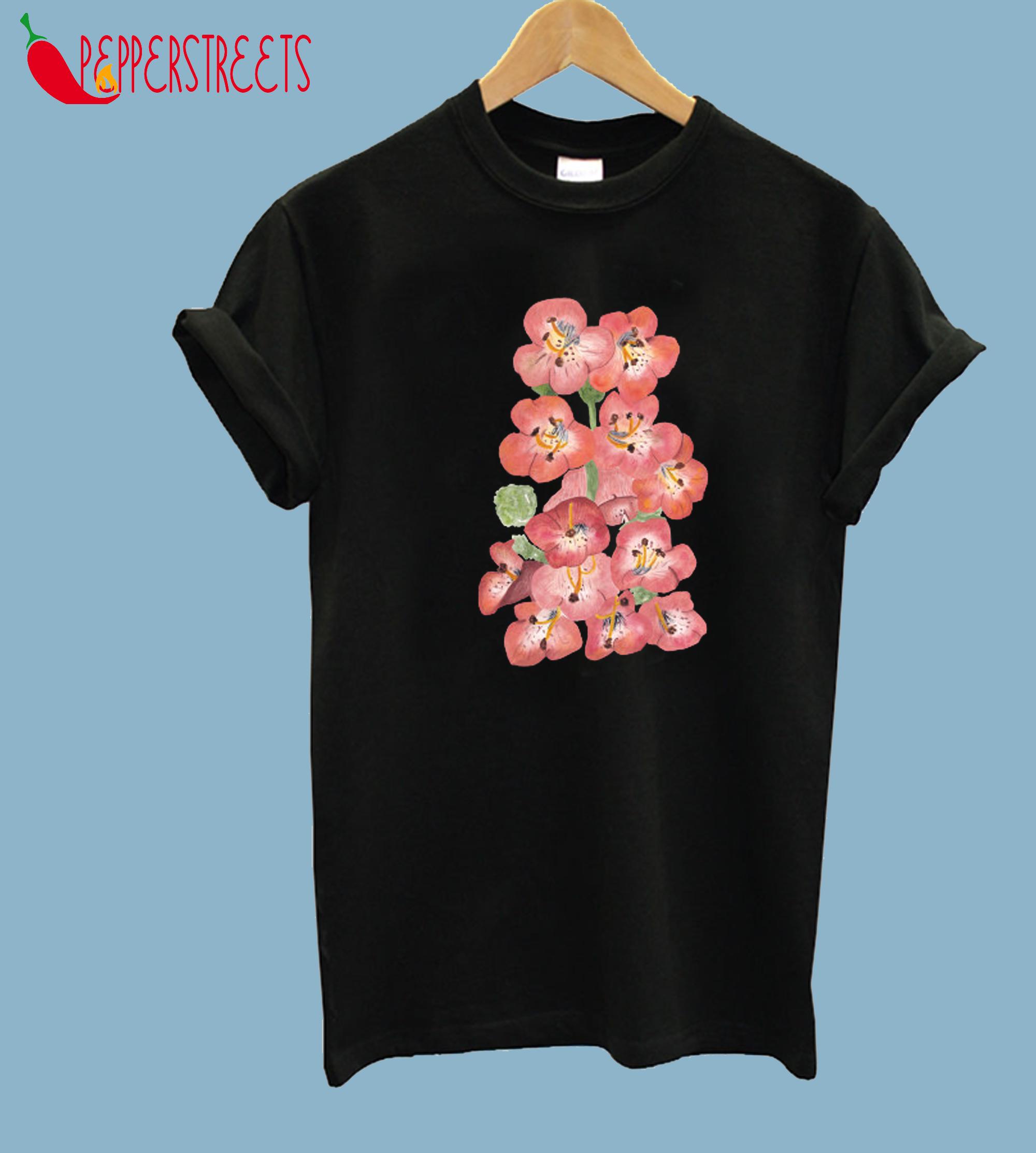 Penstemon beardtongue flowers watercolor T-Shirt