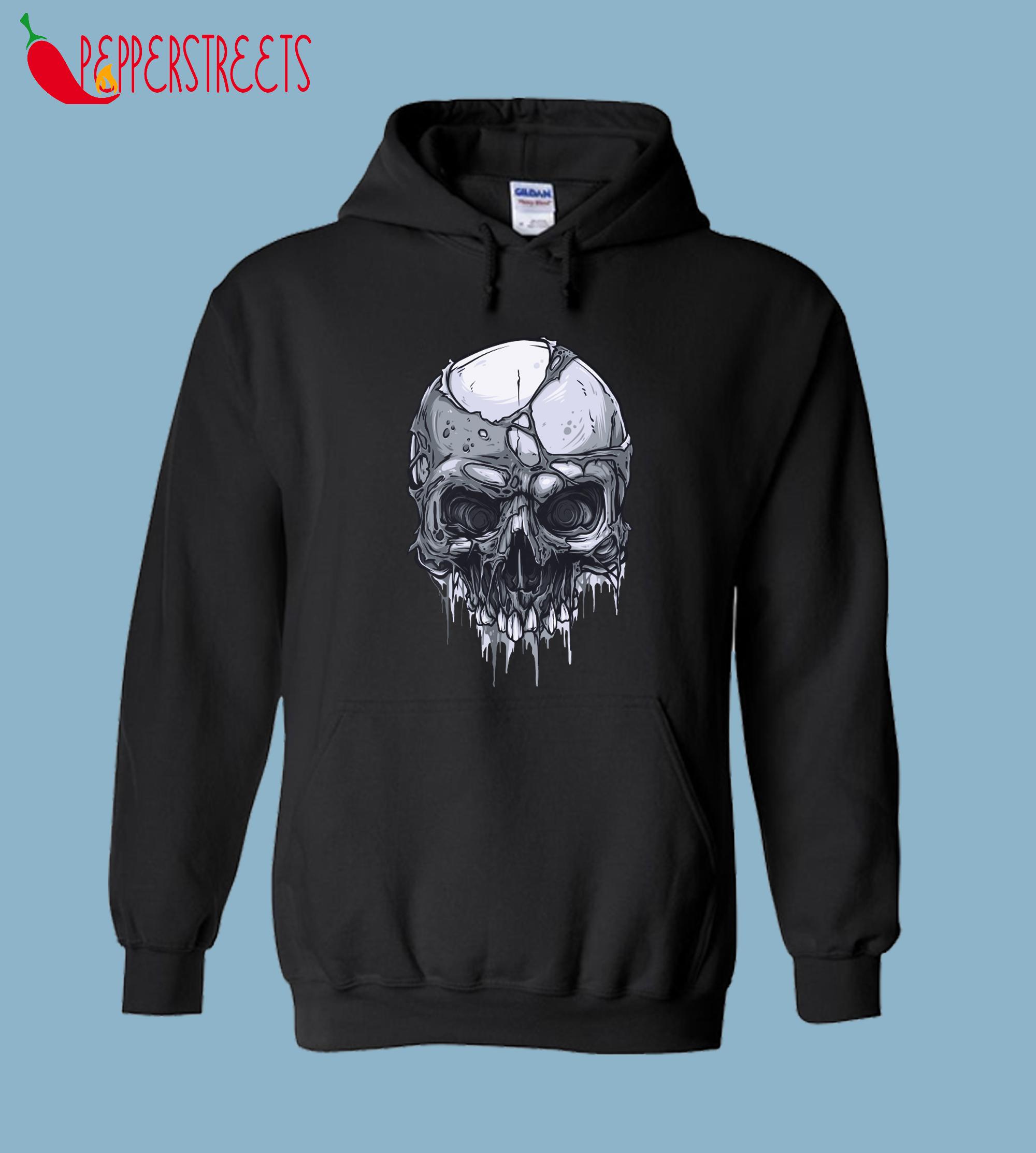Horror Skull 148 Dark Spooky Creepy Scary Hoodie